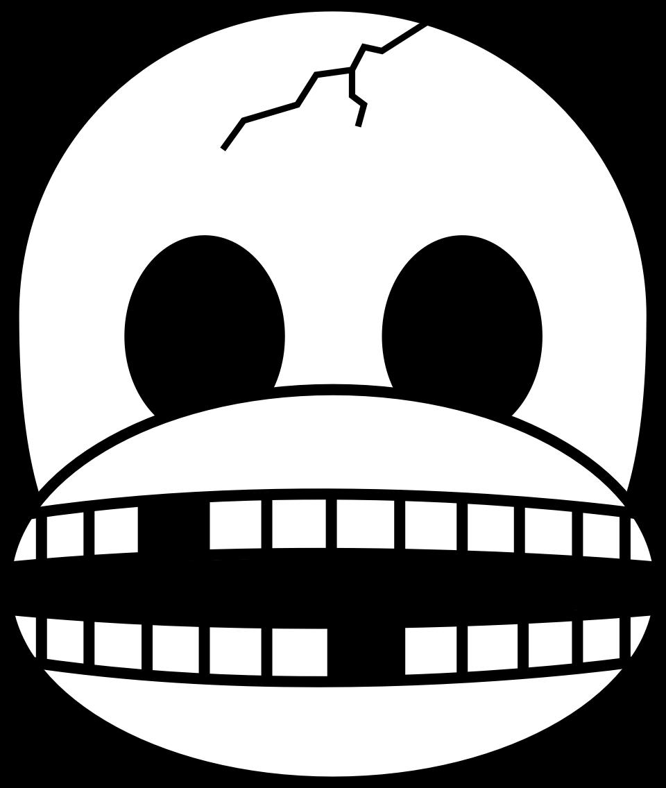 Clipart - Monkey Emoji - Skull