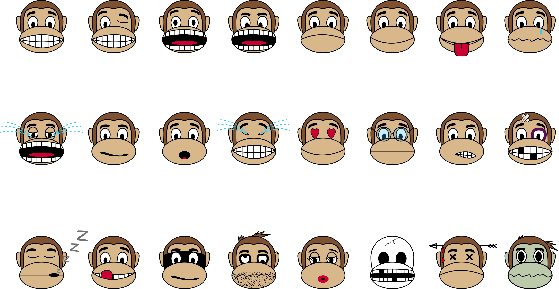 Monkey Emoji - Collection by buzzbomb