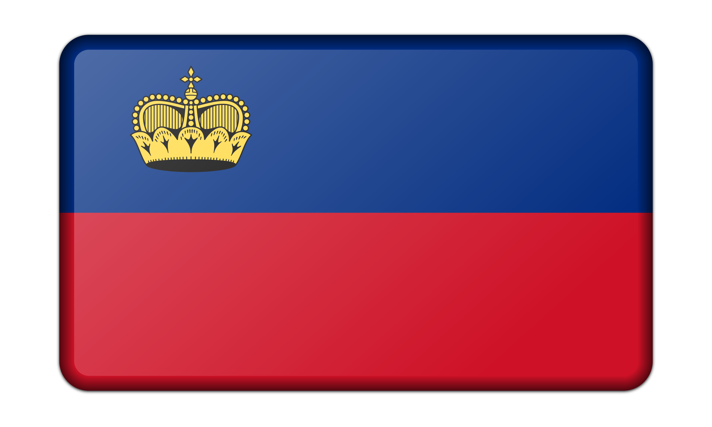 Flag of Liechtenstein (bevelled) by Firkin