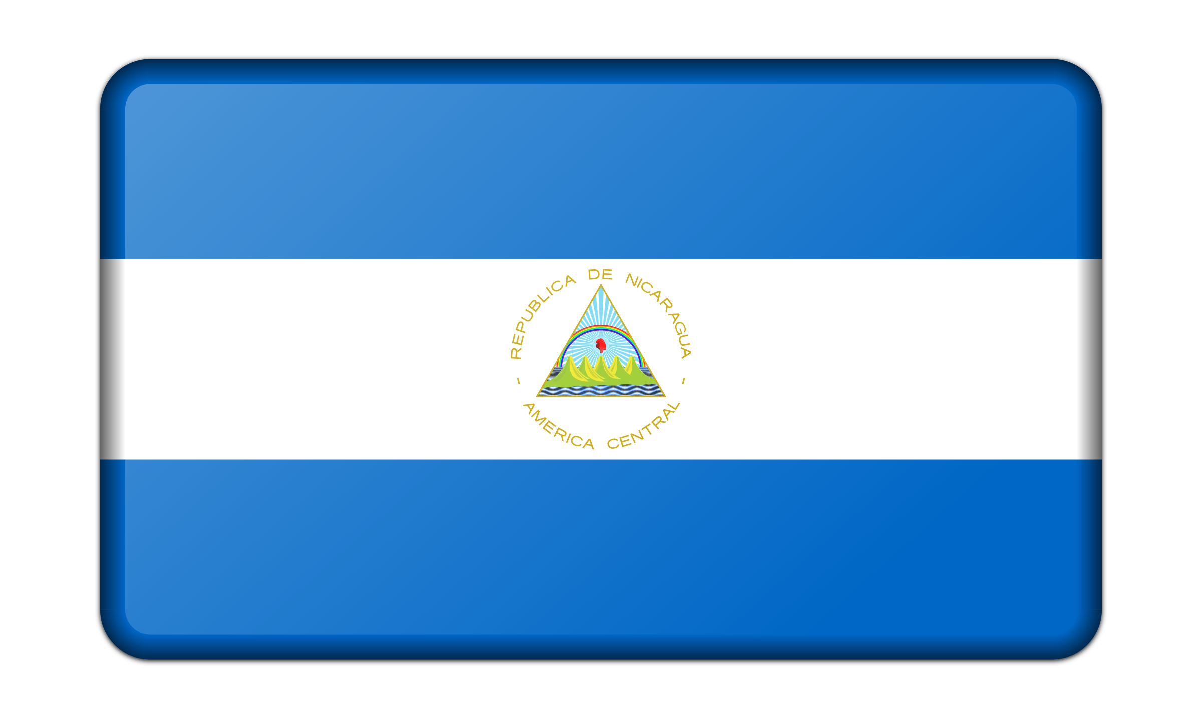 Flag of Nicaragua (bevelled) by Firkin