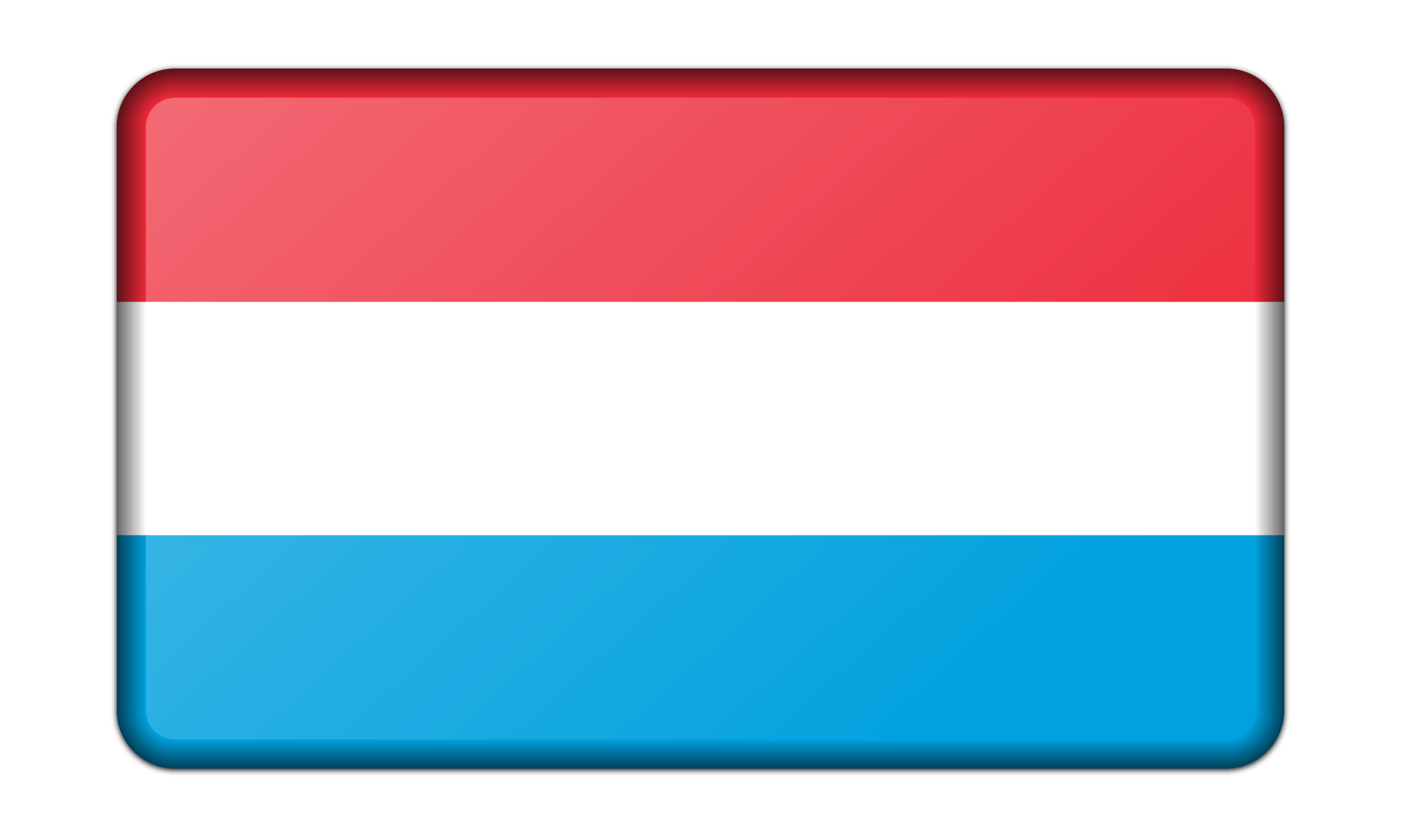 Flag of Luxembourg (bevelled) by Firkin