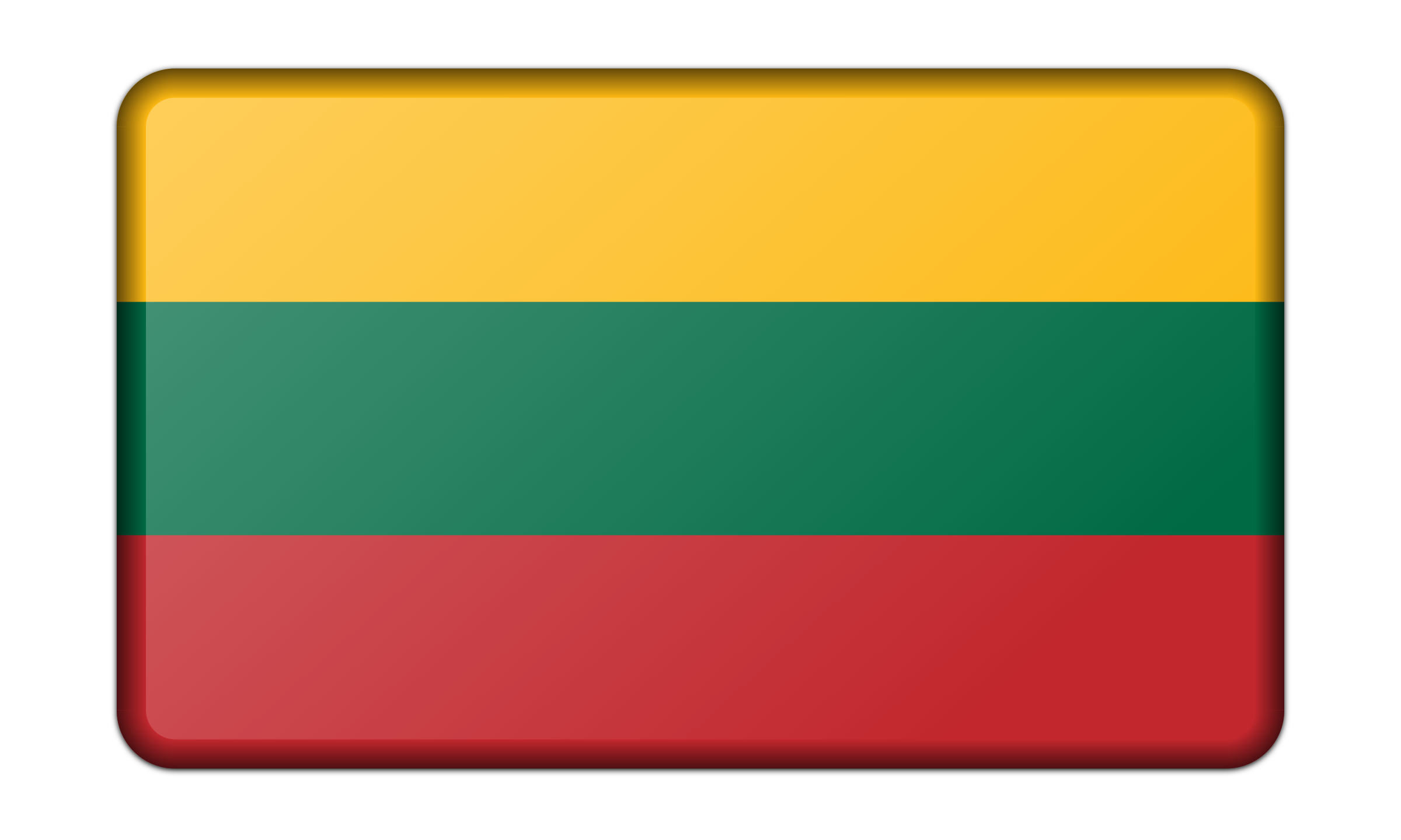 Flag of Lithuania (bevelled) by Firkin