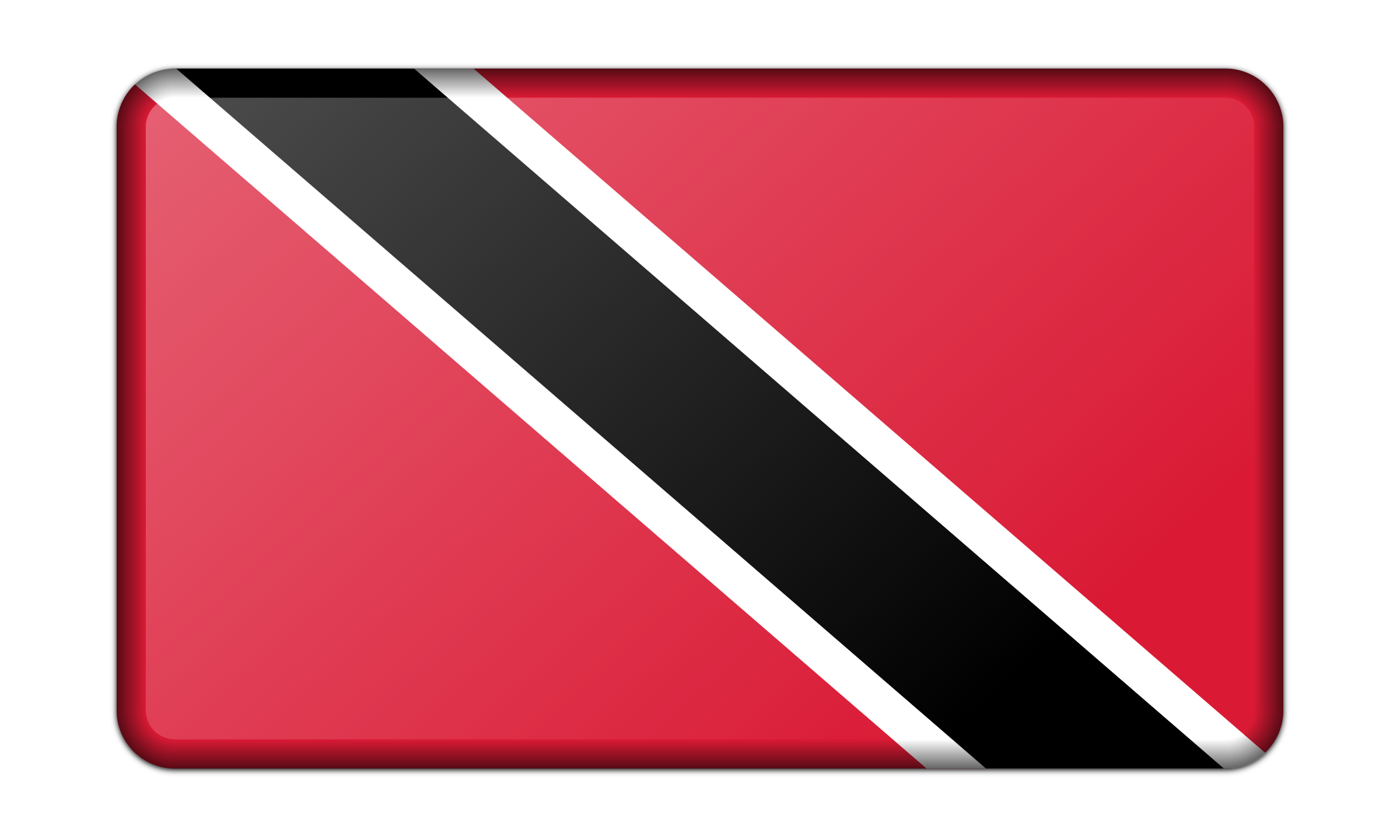Flag of Trinidad and Tobago (bevelled) by Firkin