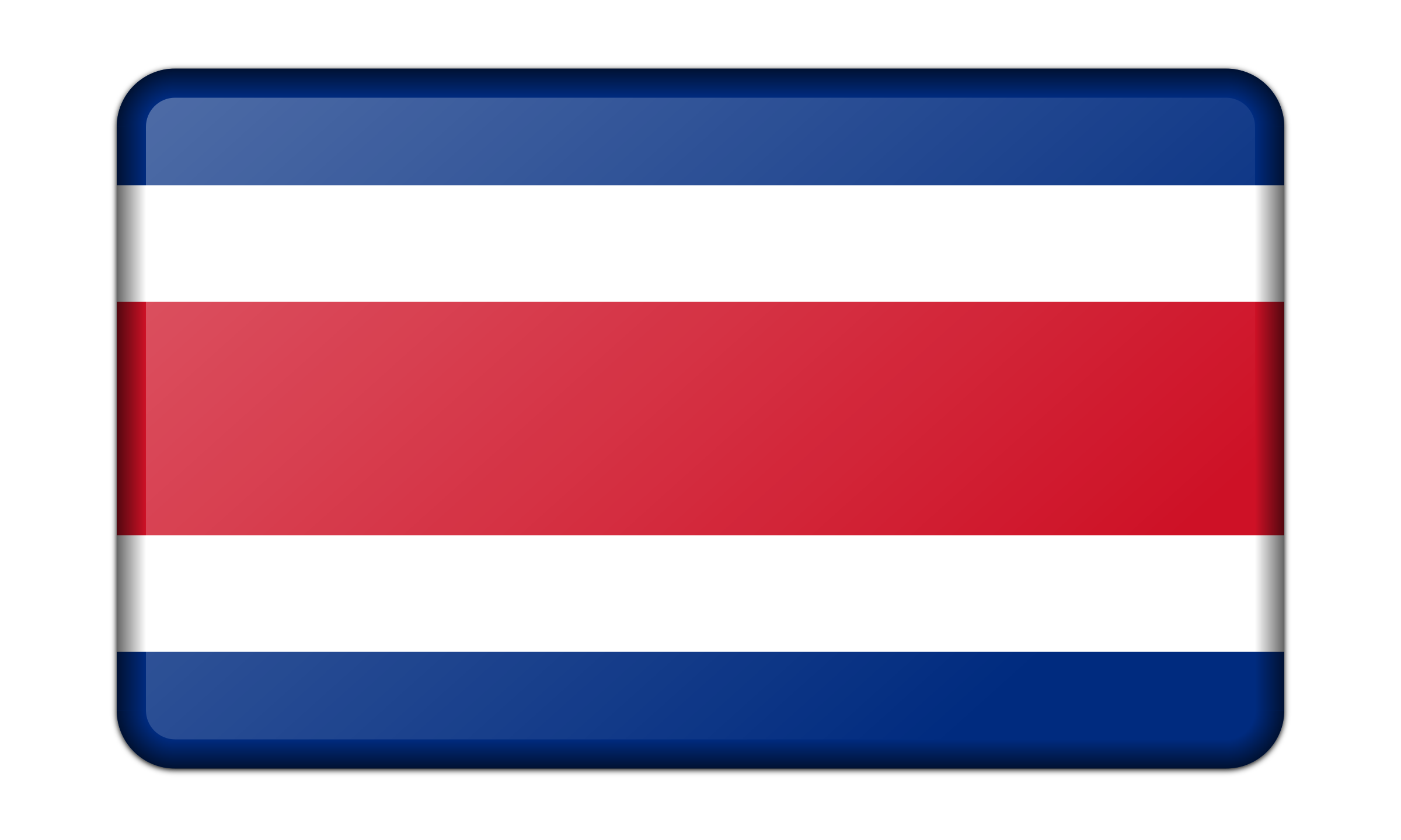 Flag of Costa Rica (bevelled) by Firkin
