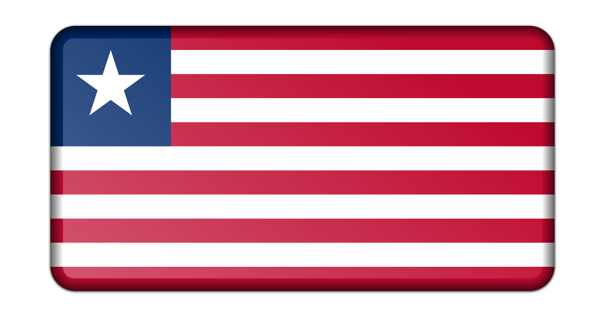 Flag of Liberia (bevelled) by Firkin