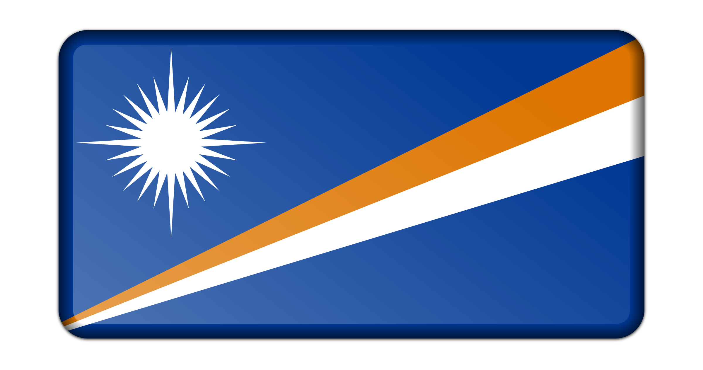 Flag of Marshall Islands (bevelled) by Firkin