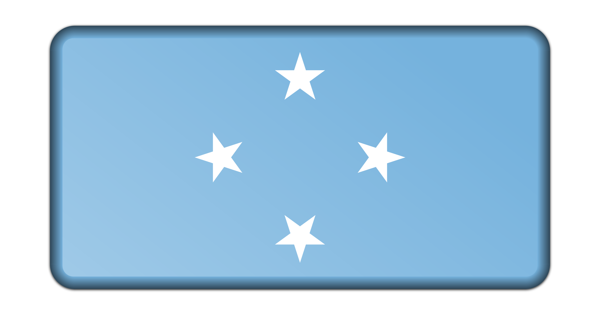 Flag of Micronesia (bevelled) by Firkin