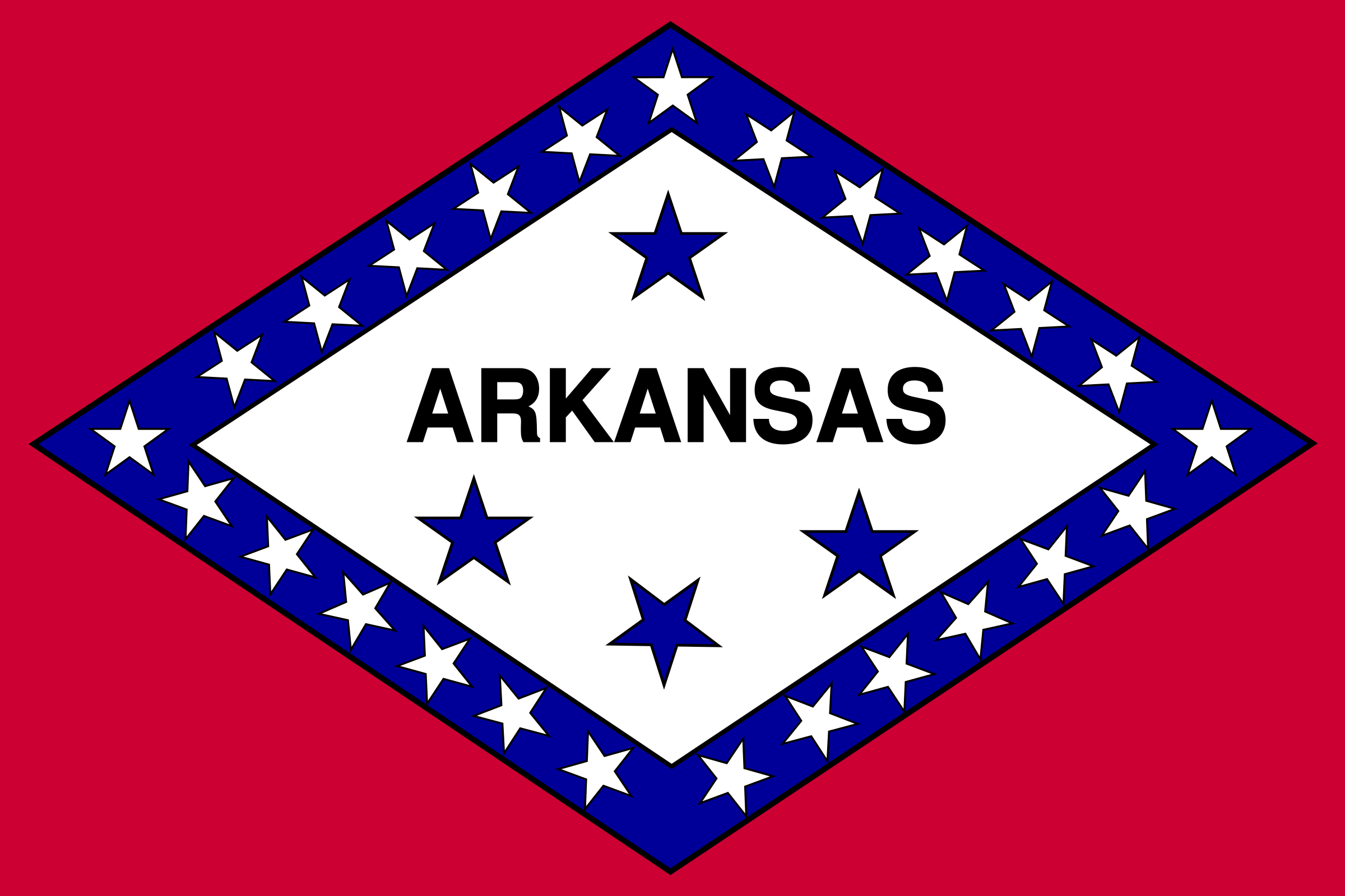 Flag of Arkansas by Anonymous