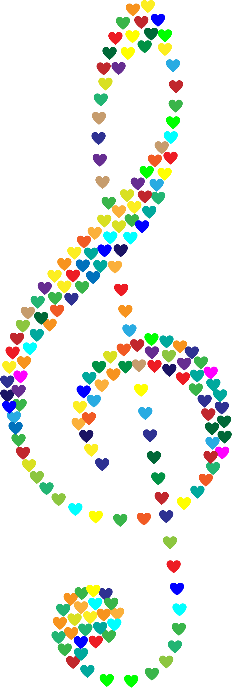 Prismatic Clef Hearts No Background by GDJ