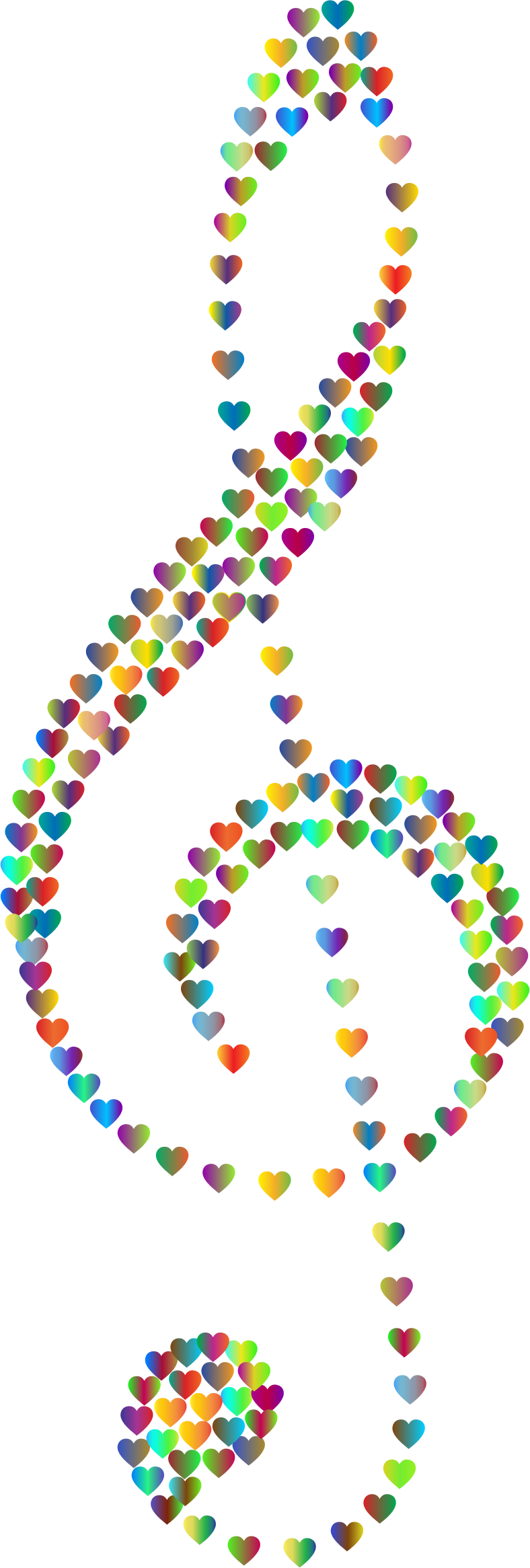 Prismatic Clef Hearts 3 No Background by GDJ