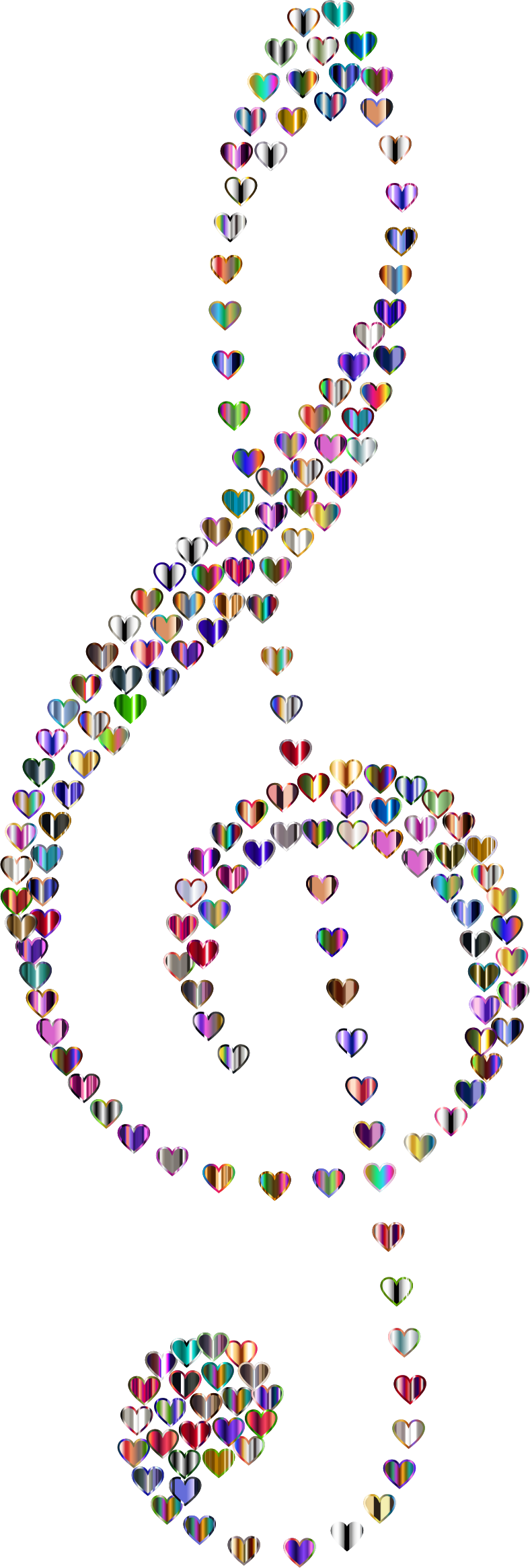 Prismatic Clef Hearts 6 No Background by GDJ