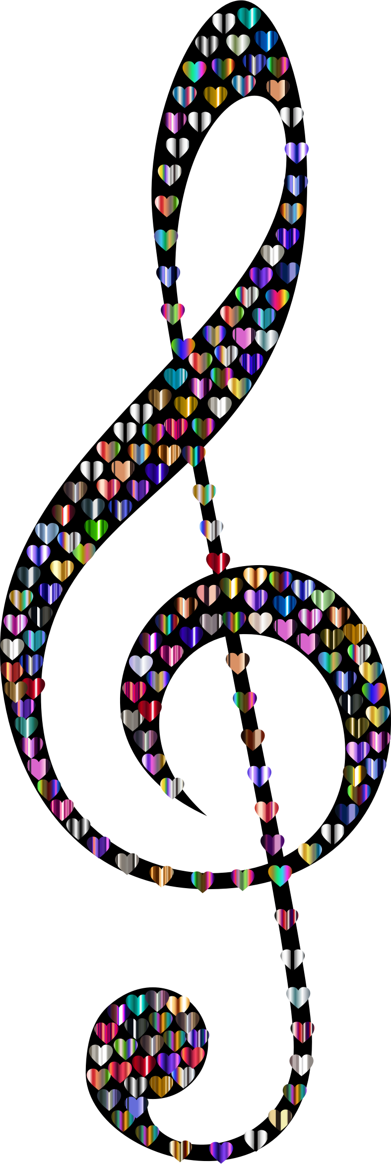 Prismatic Clef Hearts 6 Variation 2 by GDJ