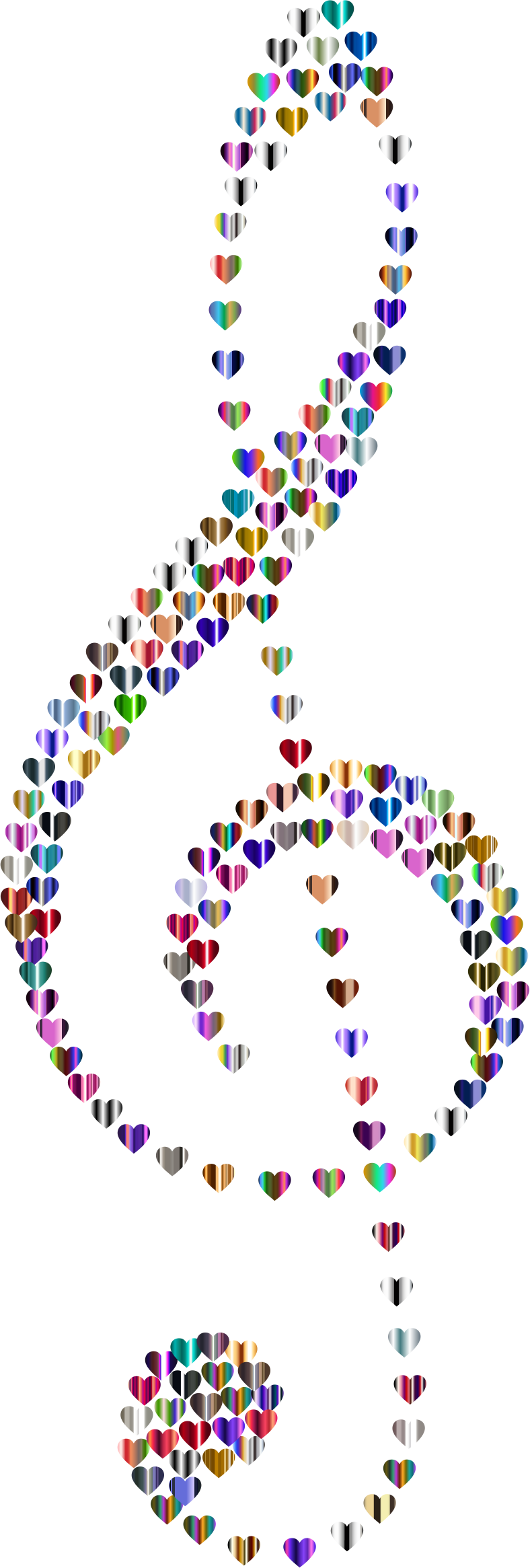 Prismatic Clef Hearts 6 Variation 2 No Background by GDJ