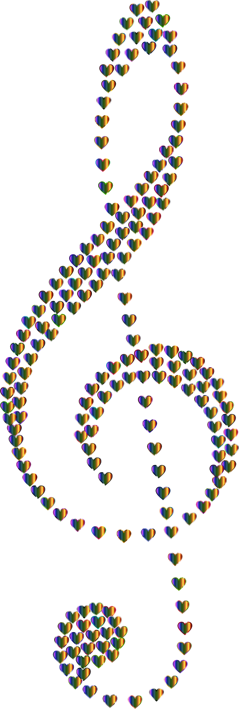 Prismatic Clef Hearts 7 No Background by GDJ