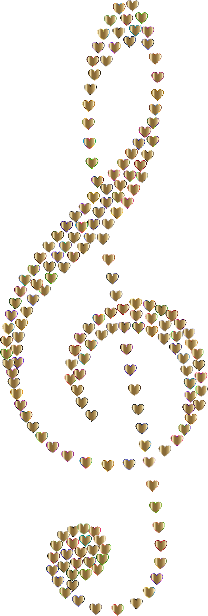 Prismatic Clef Hearts 9 No Background by GDJ