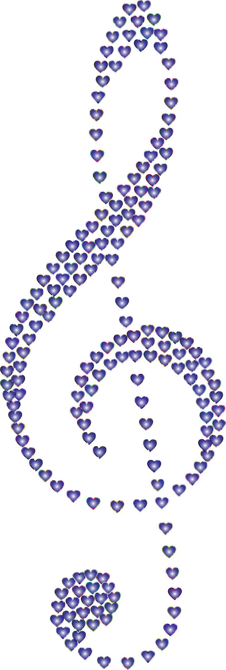 Prismatic Clef Hearts 10 No Background by GDJ