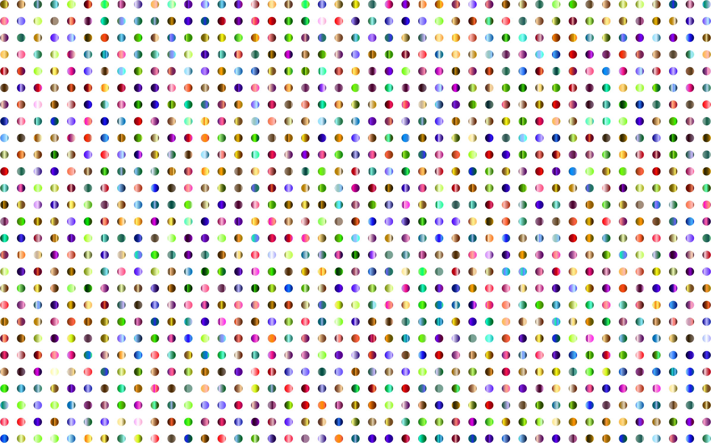 Prismatic Polka Dots 3 No Background by GDJ