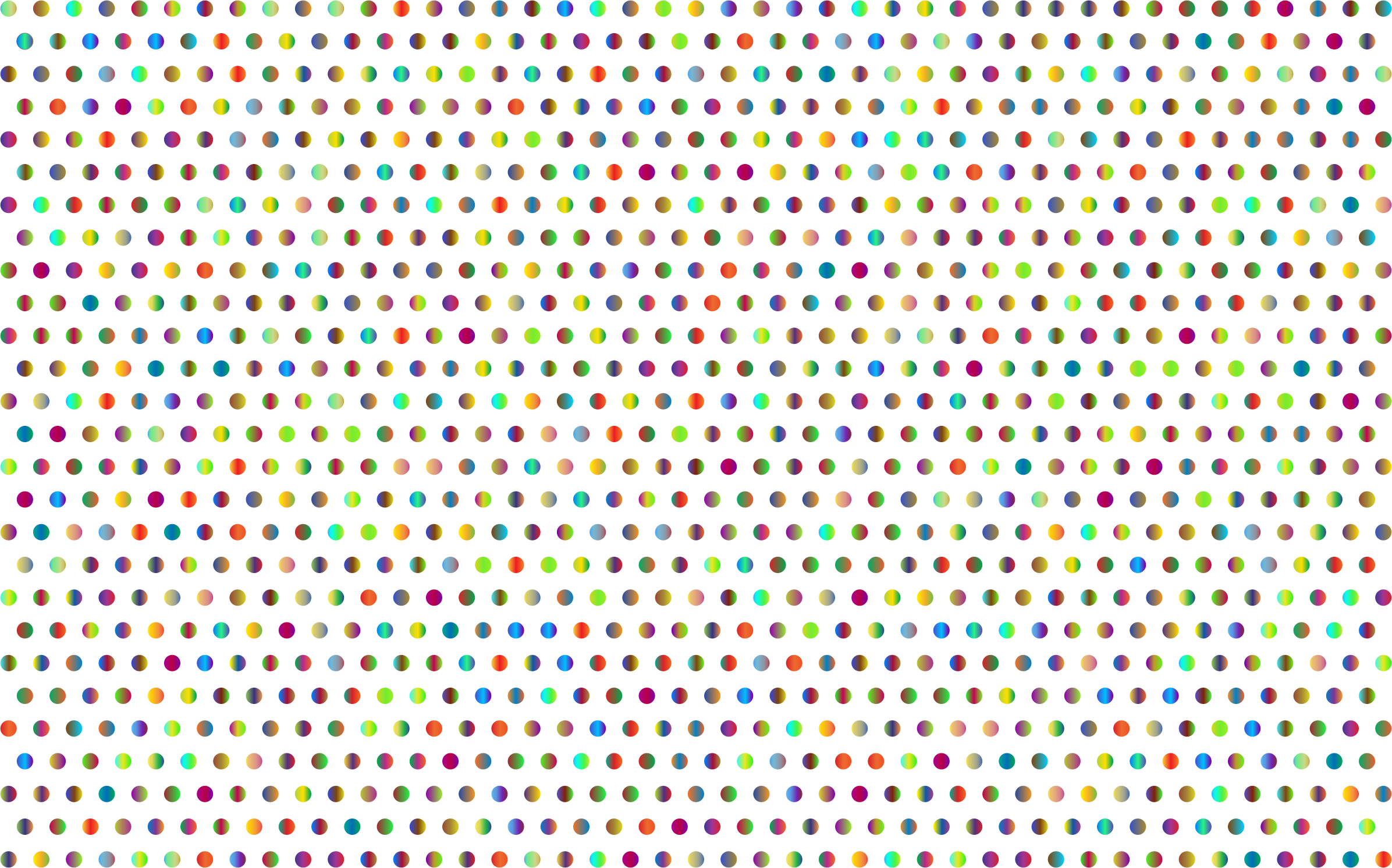 Prismatic Polka Dots Mark II 3 No Background by GDJ