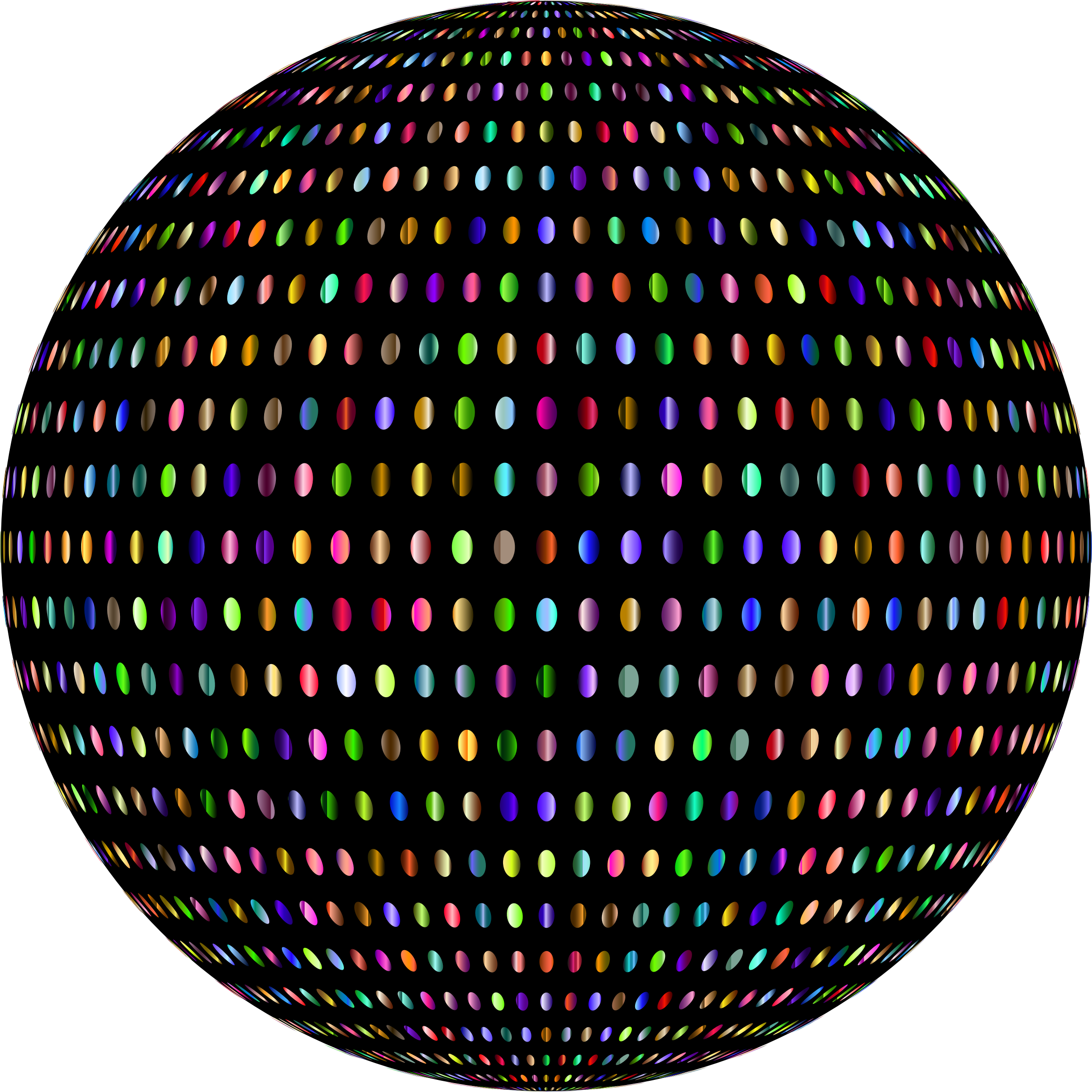 Prismatic Polka Dots Sphere by GDJ