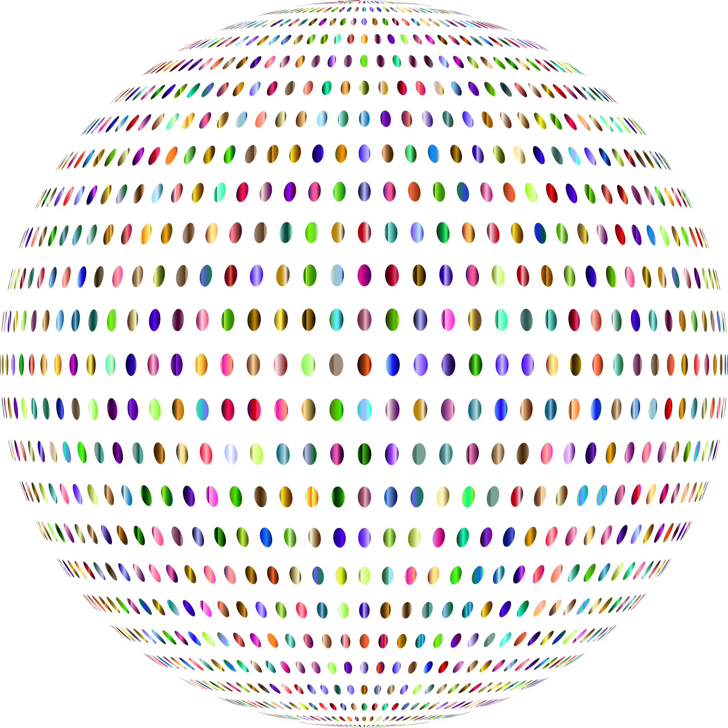 Prismatic Polka Dots Sphere No Background by GDJ