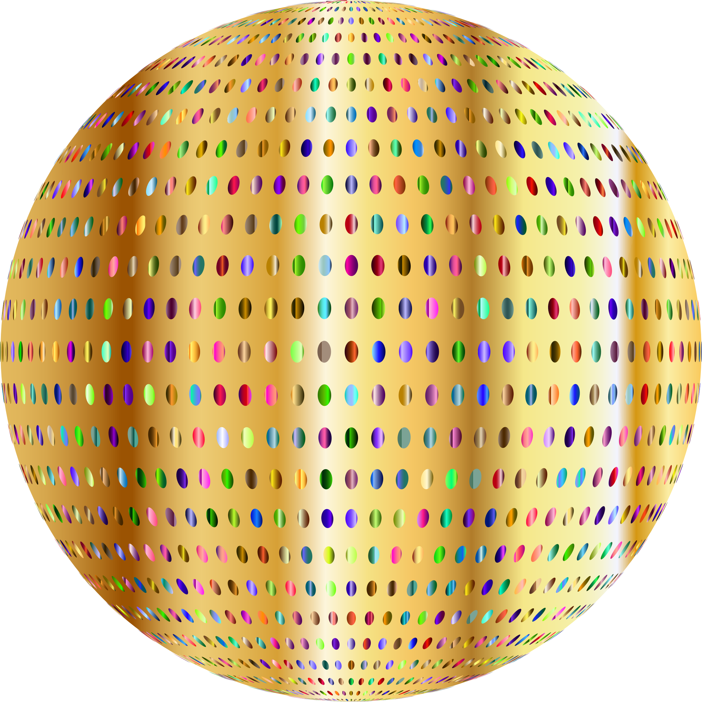 Gold Polka Dots Sphere by GDJ