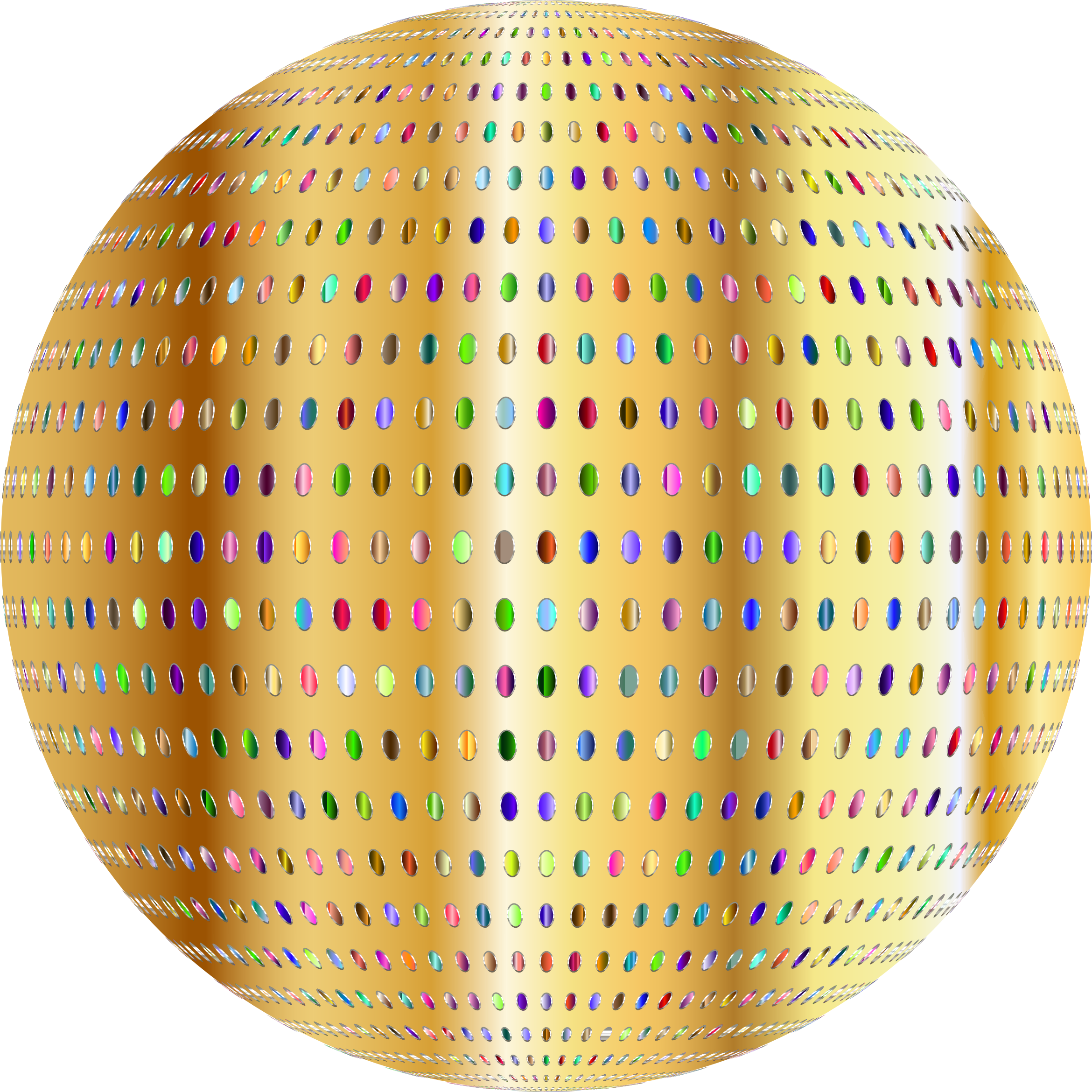 Gold Polka Dots Sphere Variation 2 by GDJ