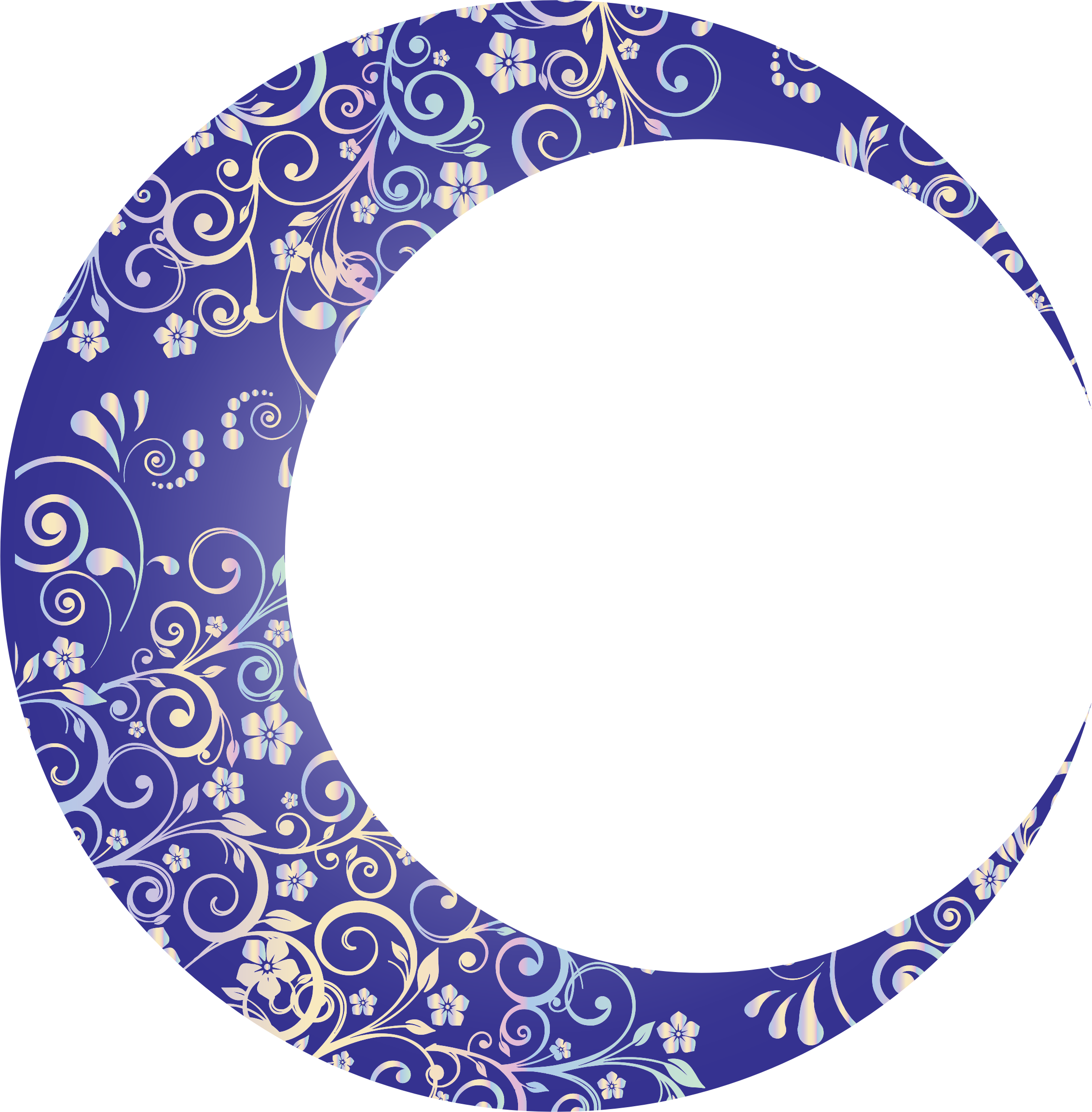 Prismatic Floral Crescent Moon Mark II by GDJ