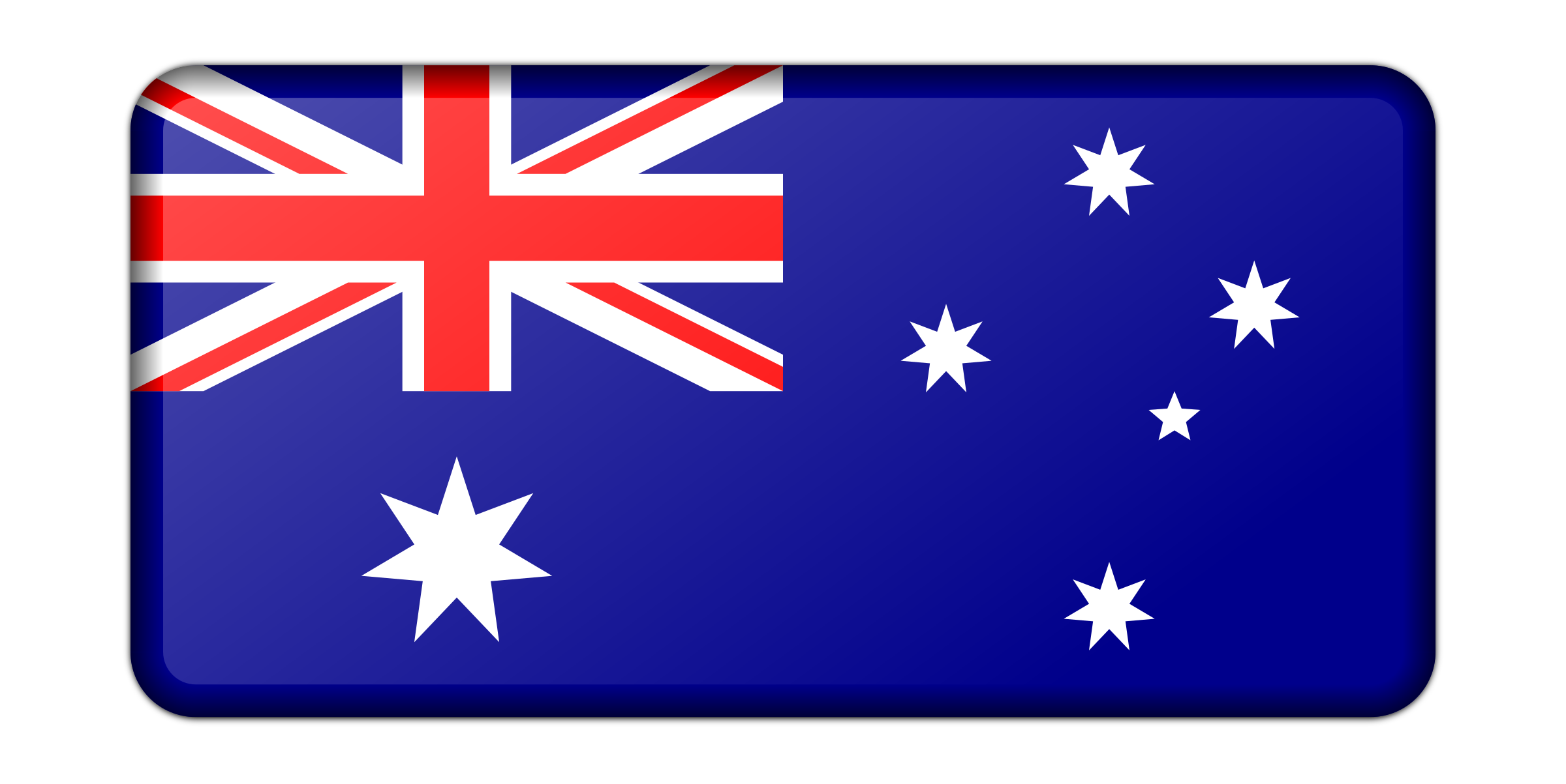 Flag of Australia (bevelled) by Firkin