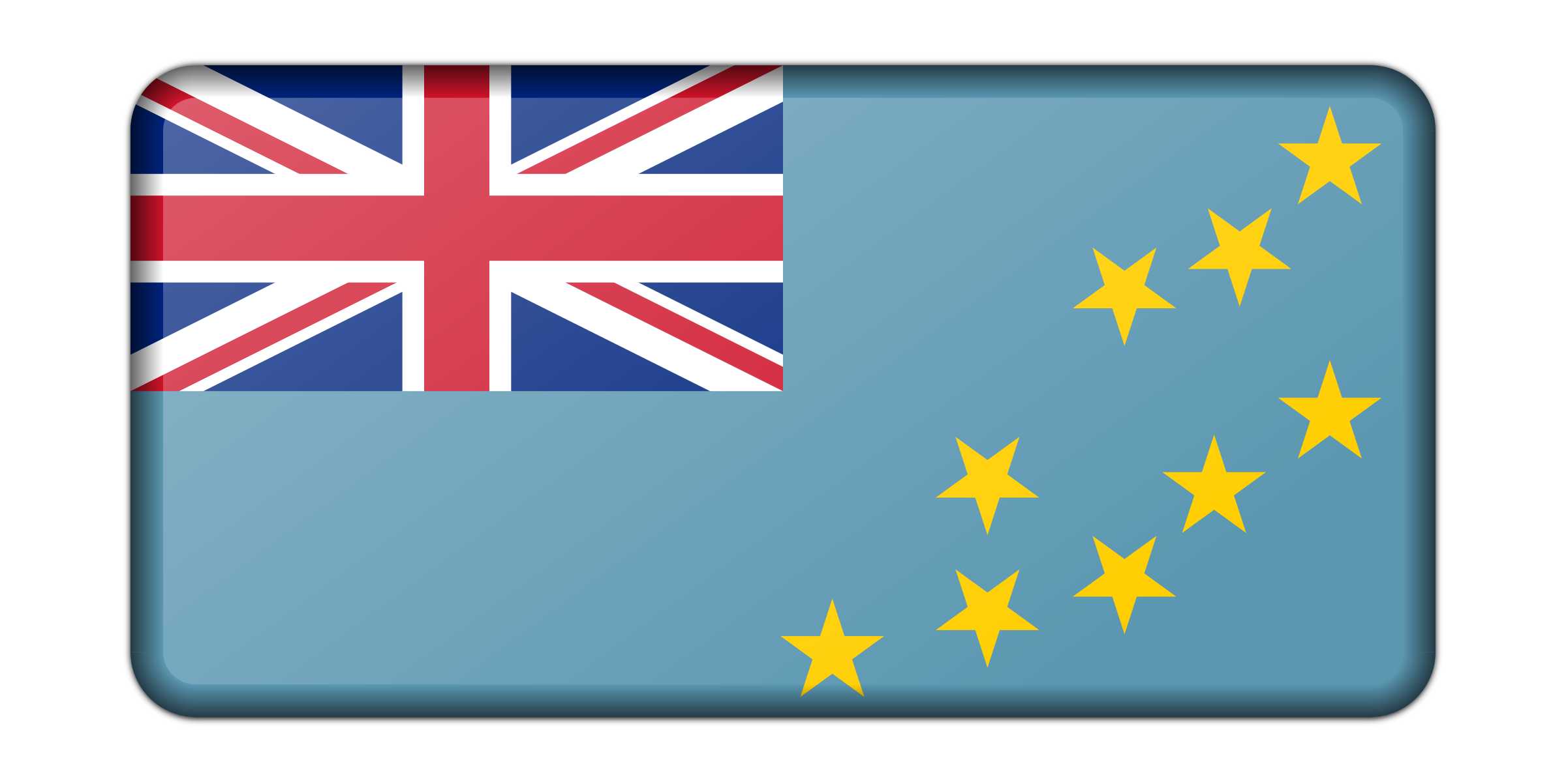 Flag of Tuvalu (bevelled) by Firkin