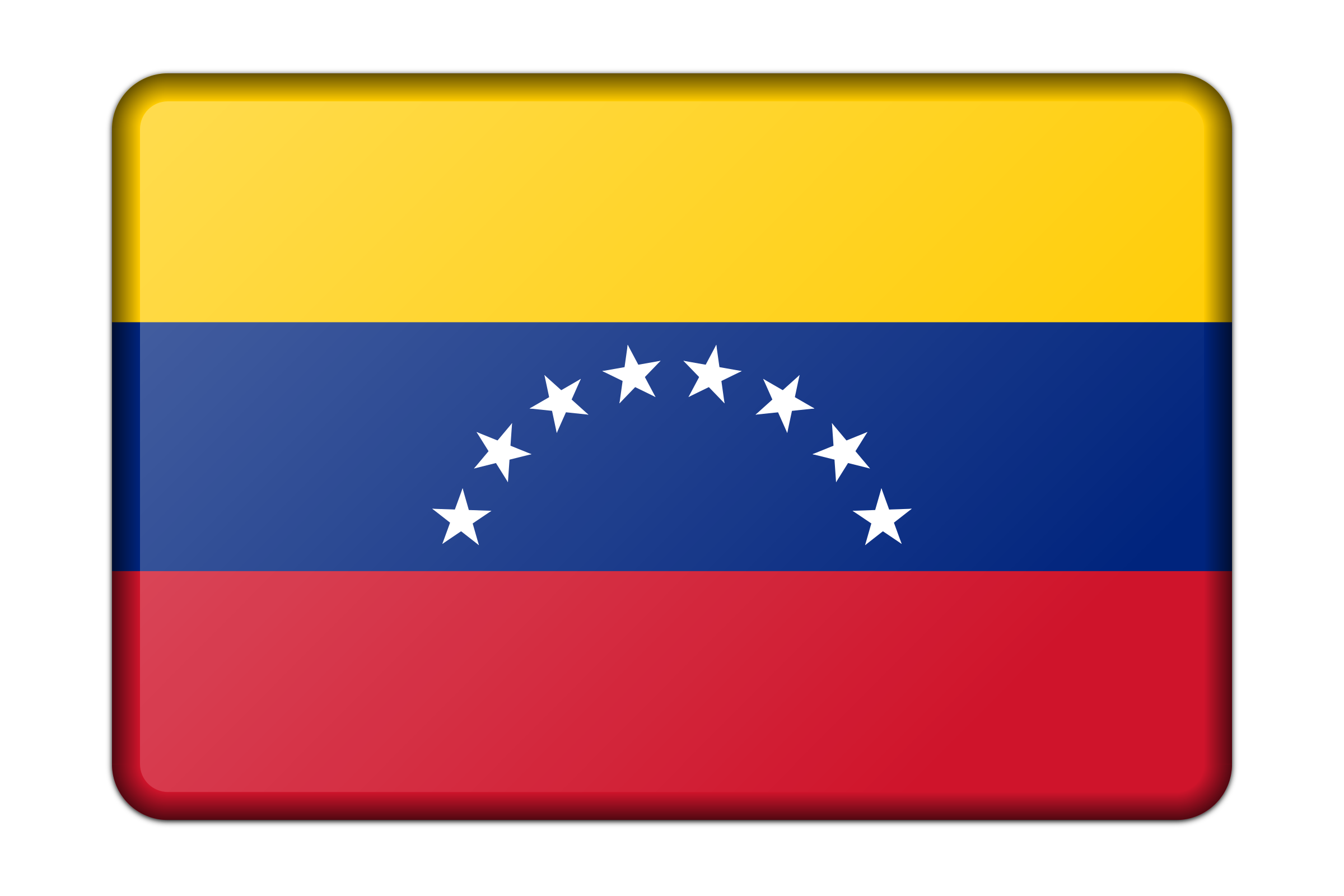Flag of Venezuela (bevelled) by Firkin