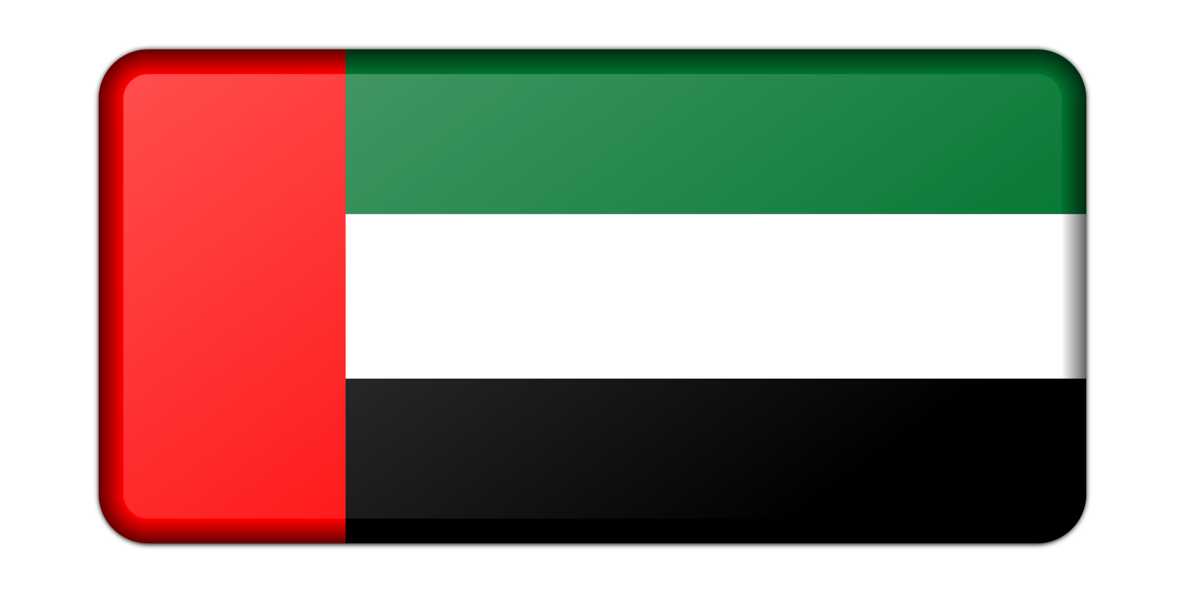 Flag of United Arab Emirates (bevelled) by Firkin