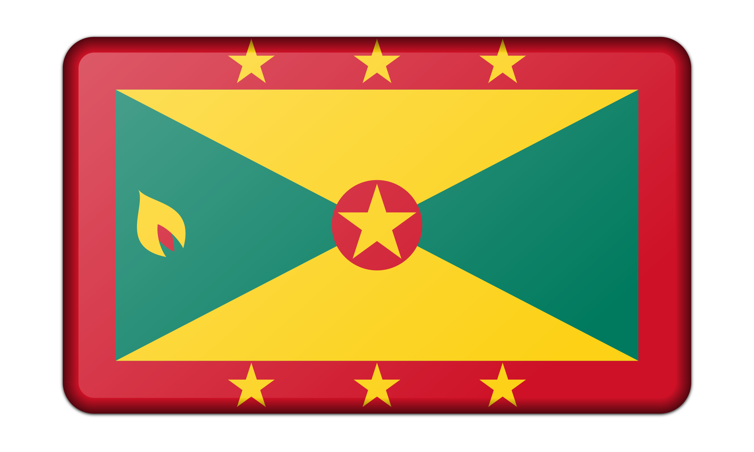 Flag of Grenada (bevelled) by Firkin