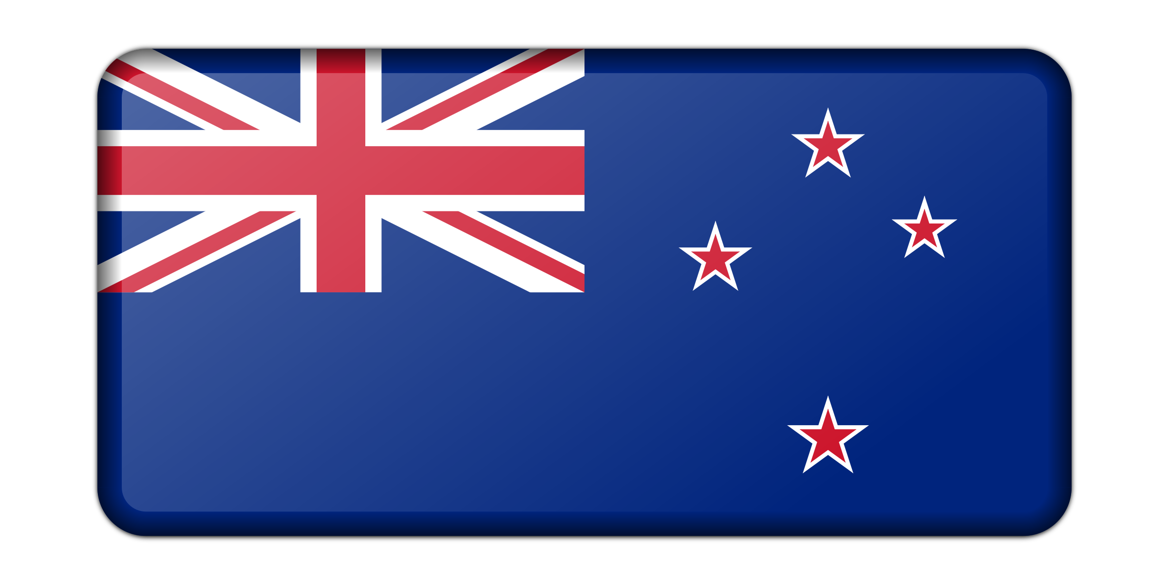 Flag of New Zealand (bevelled) by Firkin