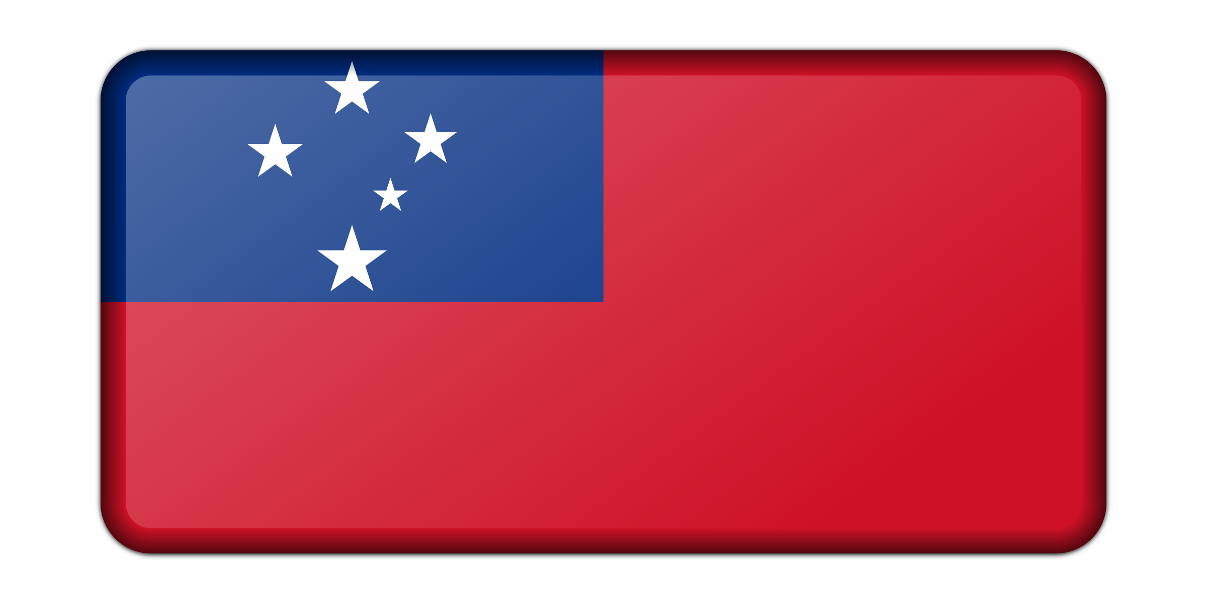 Flag of Samoa (bevelled) by Firkin