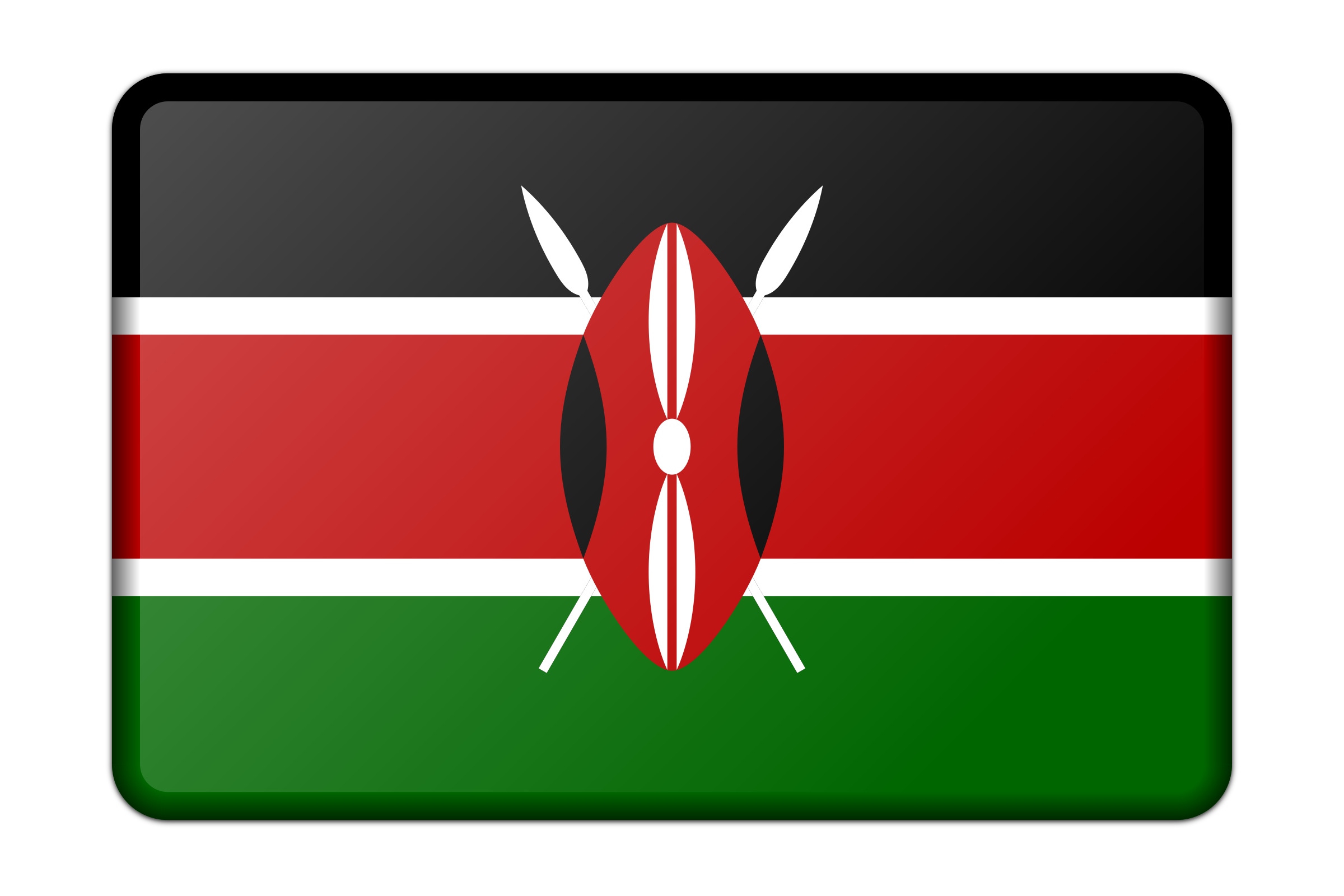 Flag of Kenya (bevelled) by Firkin