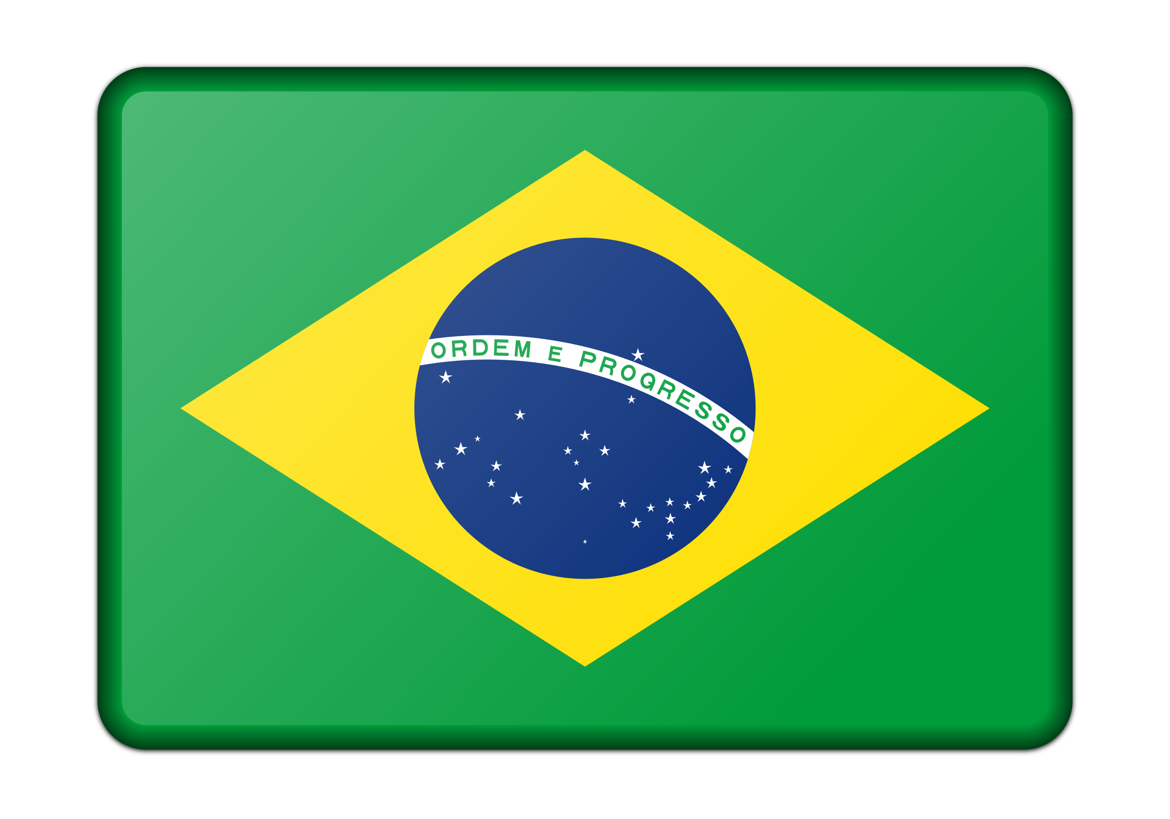 Flag of Brazil (bevelled) by Firkin