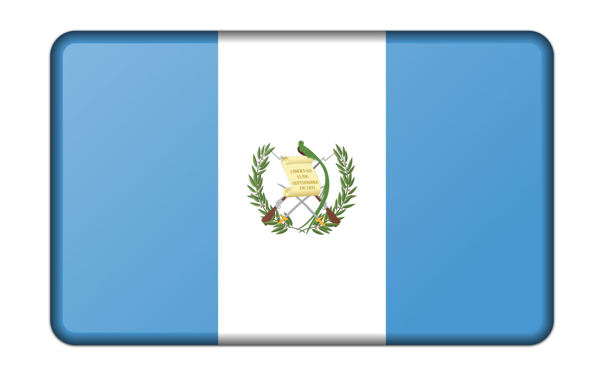 Flag of Guatemala (bevelled) by Firkin