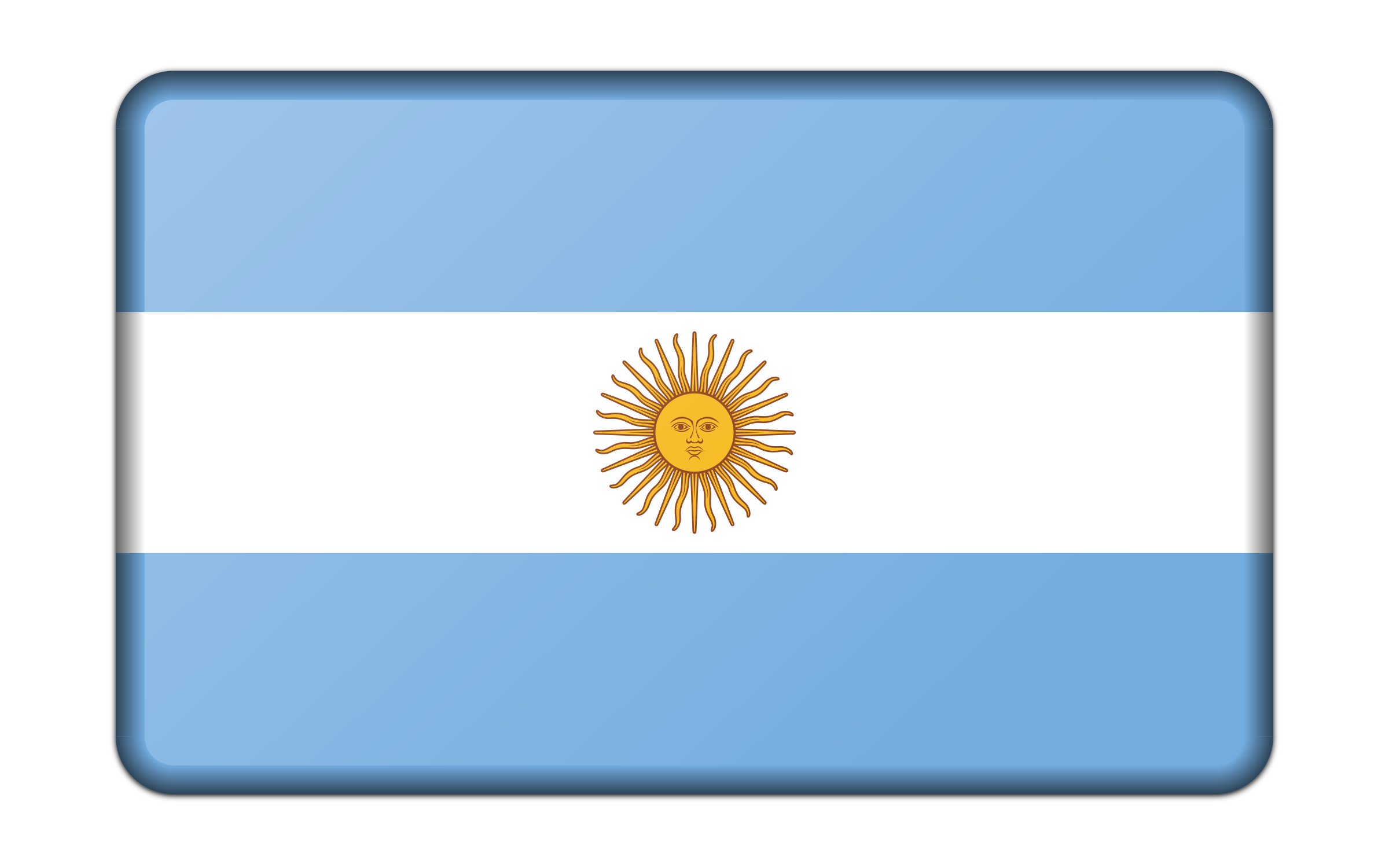 Flag of Argentina (bevelled) by Firkin