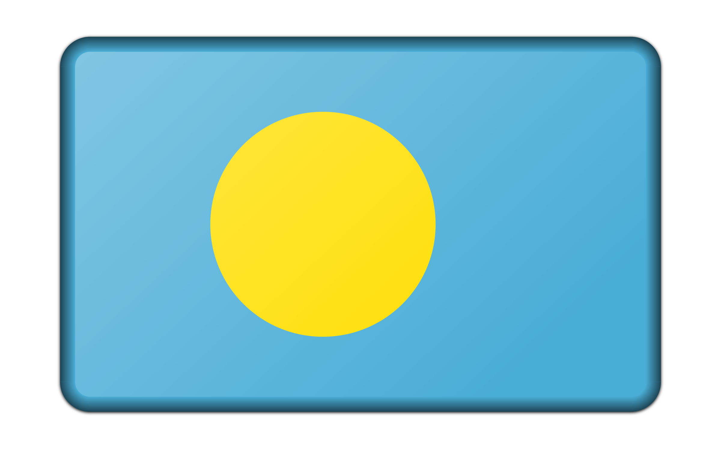 Flag of Palau (bevelled) by Firkin
