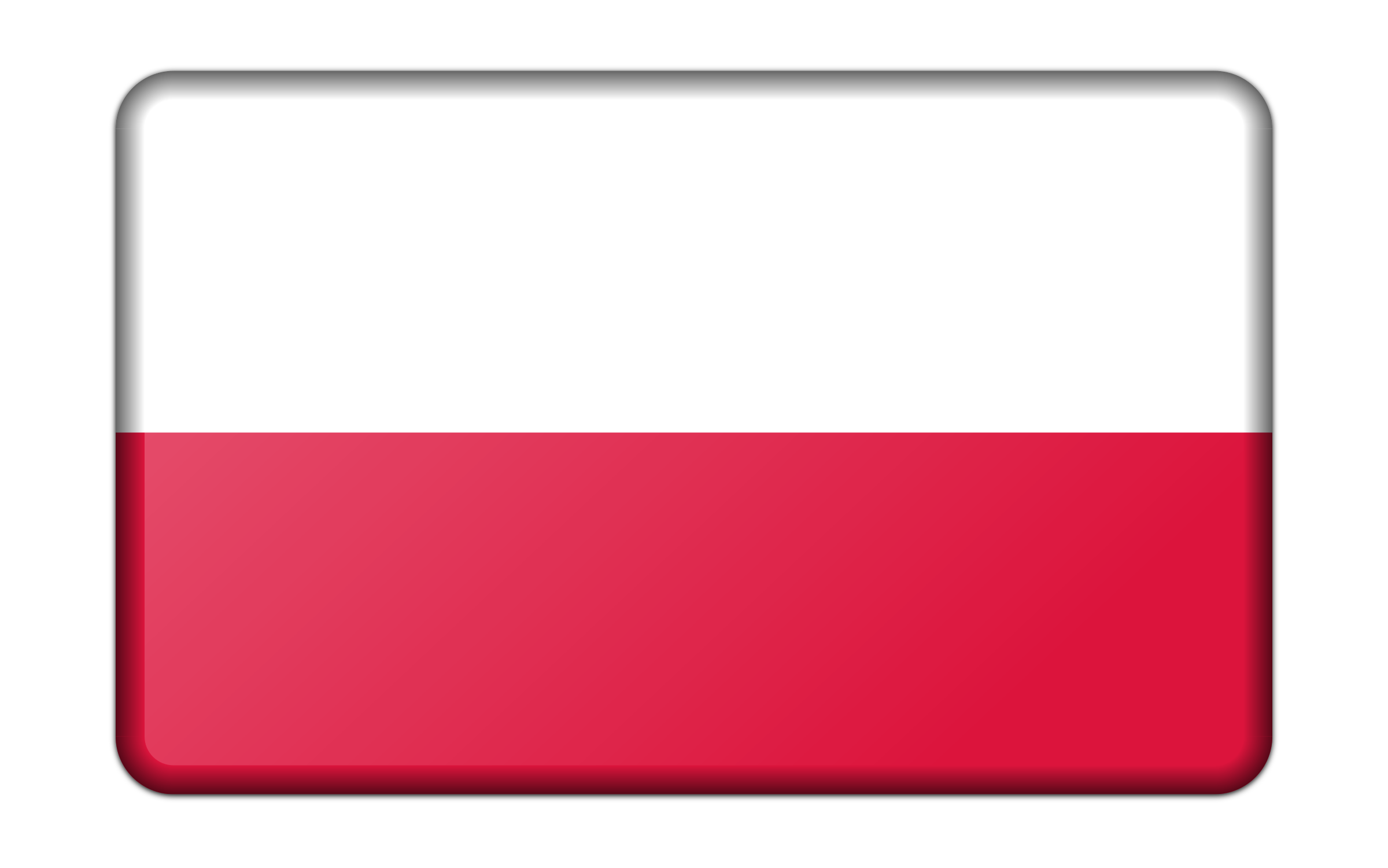 Flag of Poland (bevelled) by Firkin
