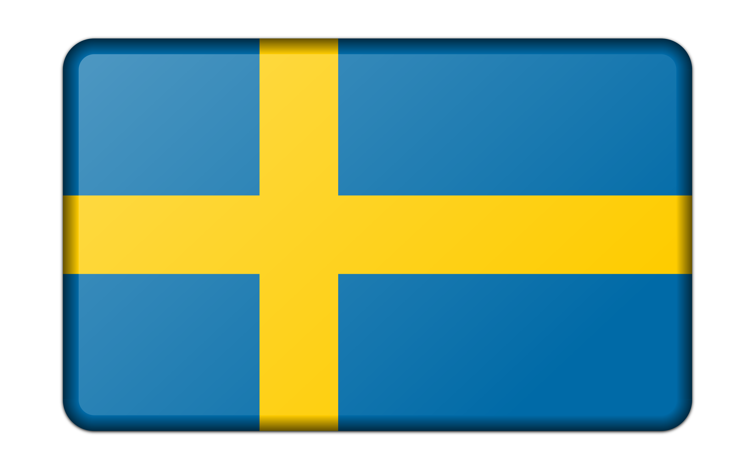 Flag of Sweden (bevelled) by Firkin