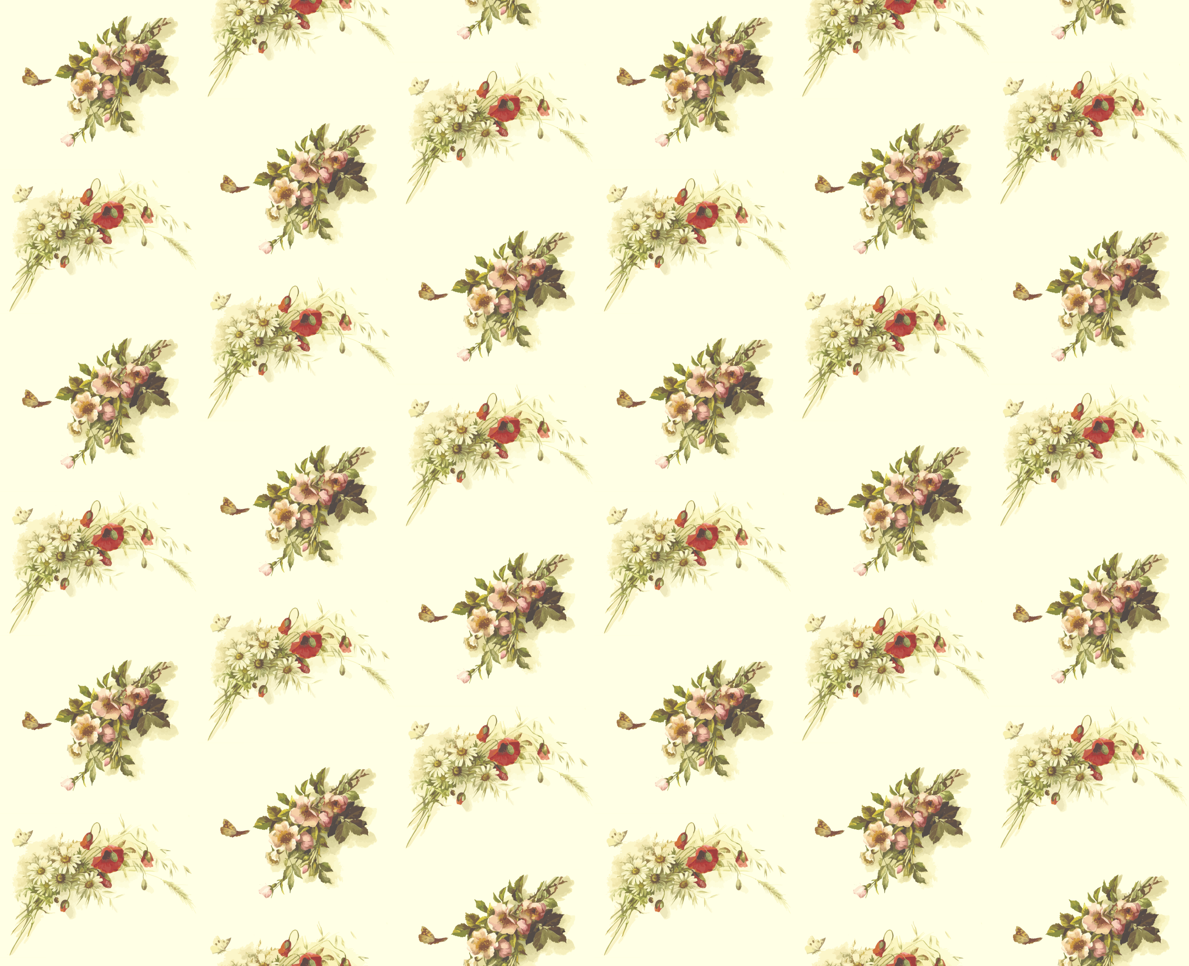 Flowers and butterflies pattern by Firkin