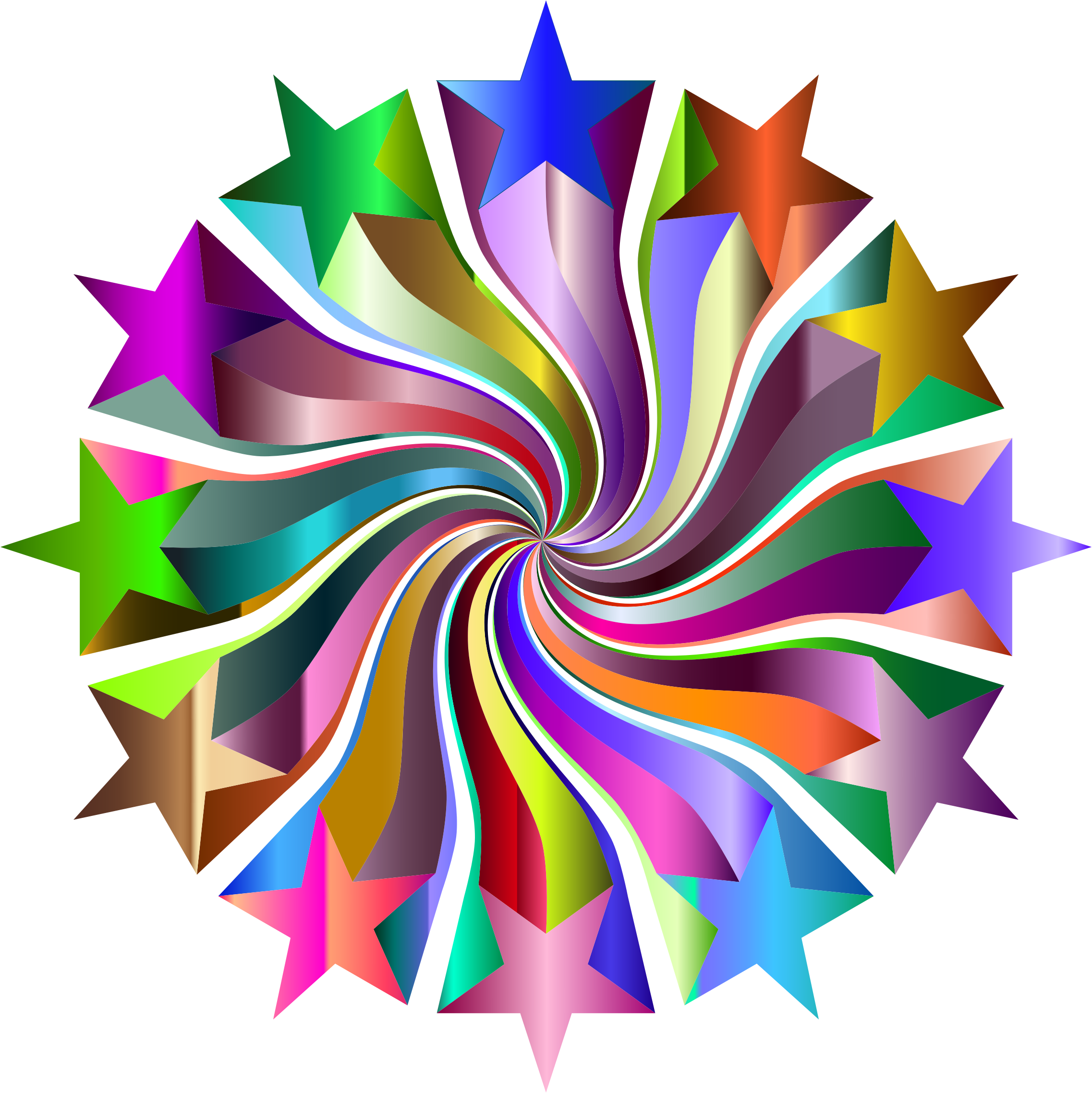Prismatic Starburst Vortex 4 by GDJ