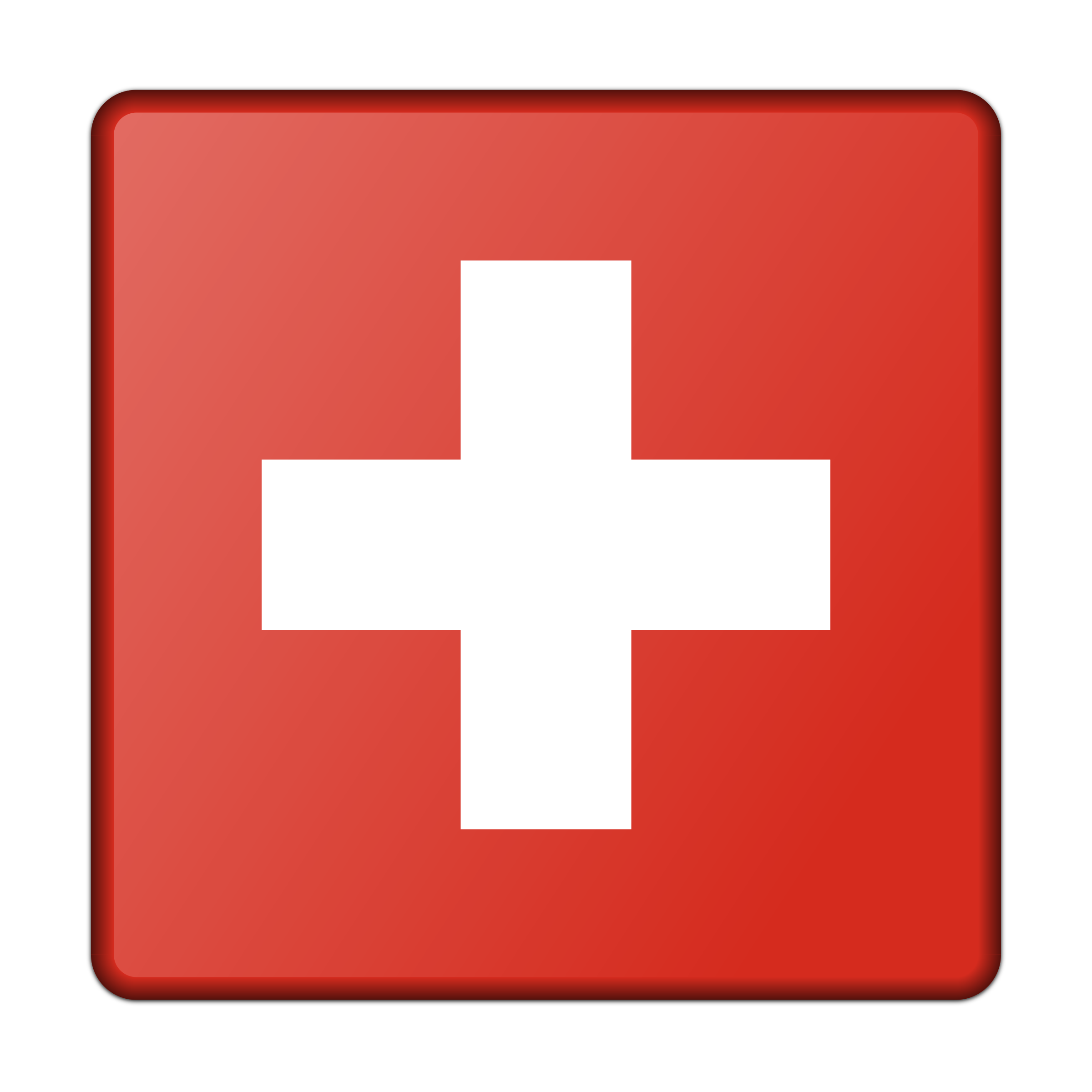 Flag of Switzerland (bevelled) by Firkin