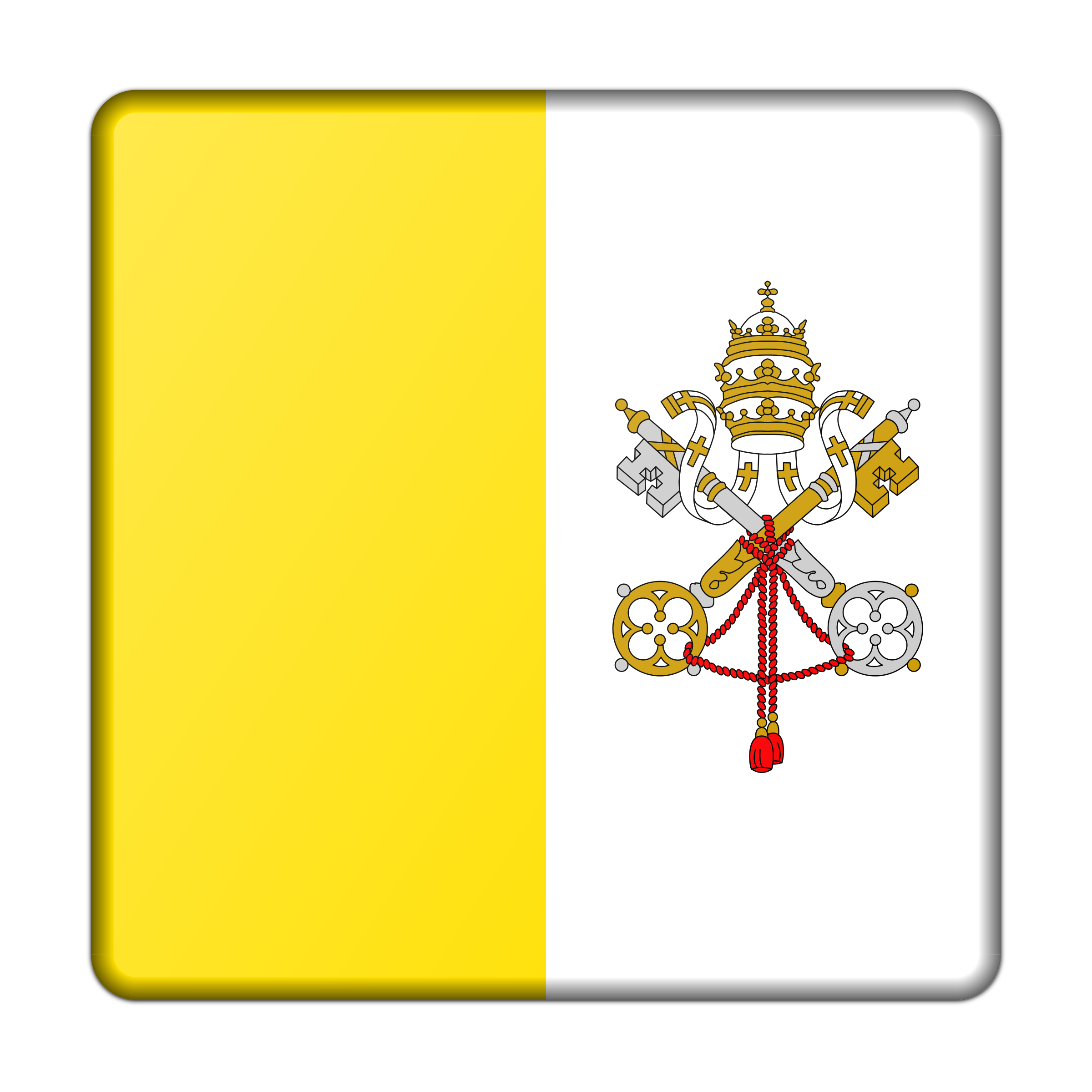 Flag of Vatican City (bevelled) by Firkin