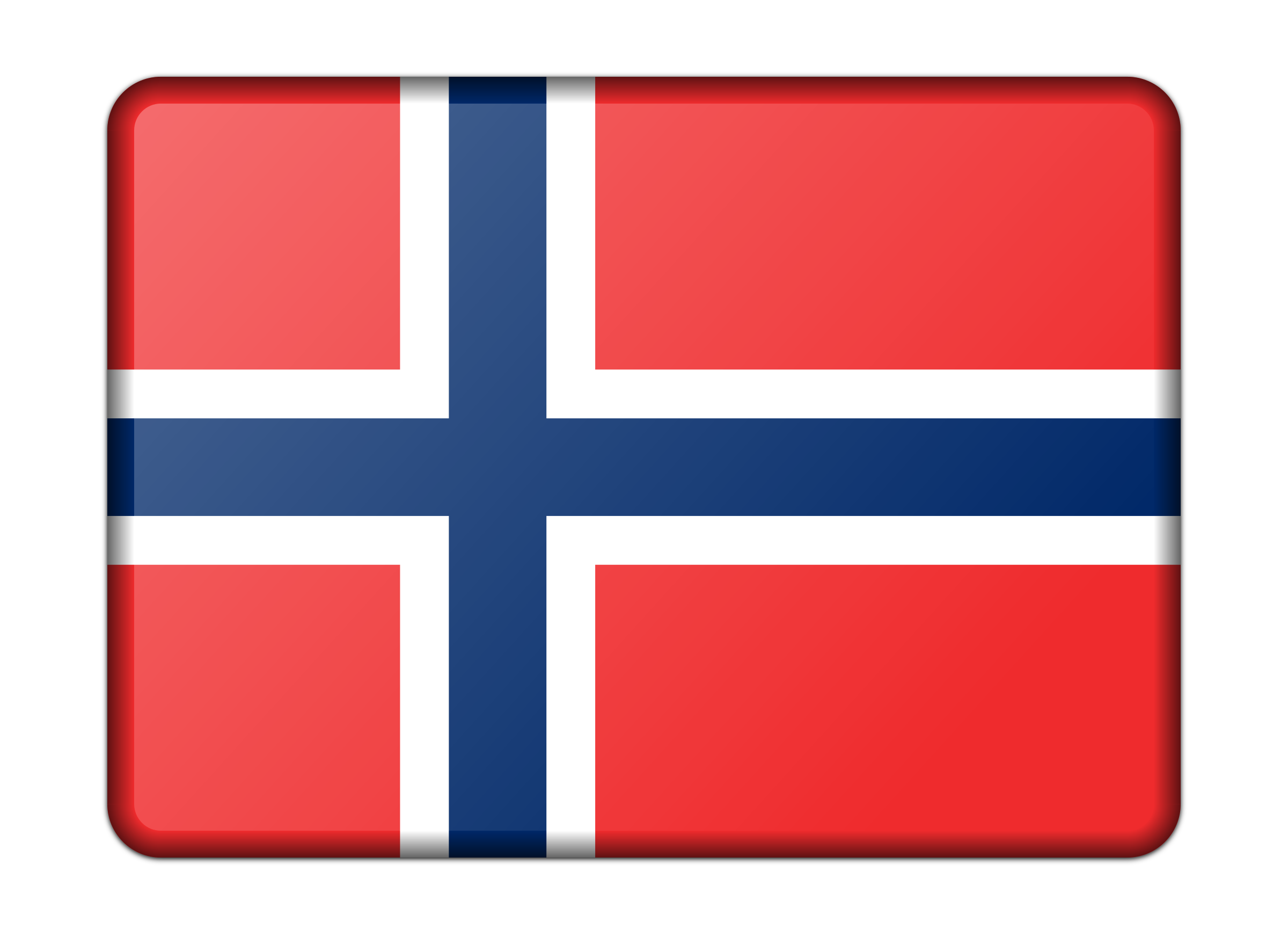 Flag of Norway (bevelled) by Firkin