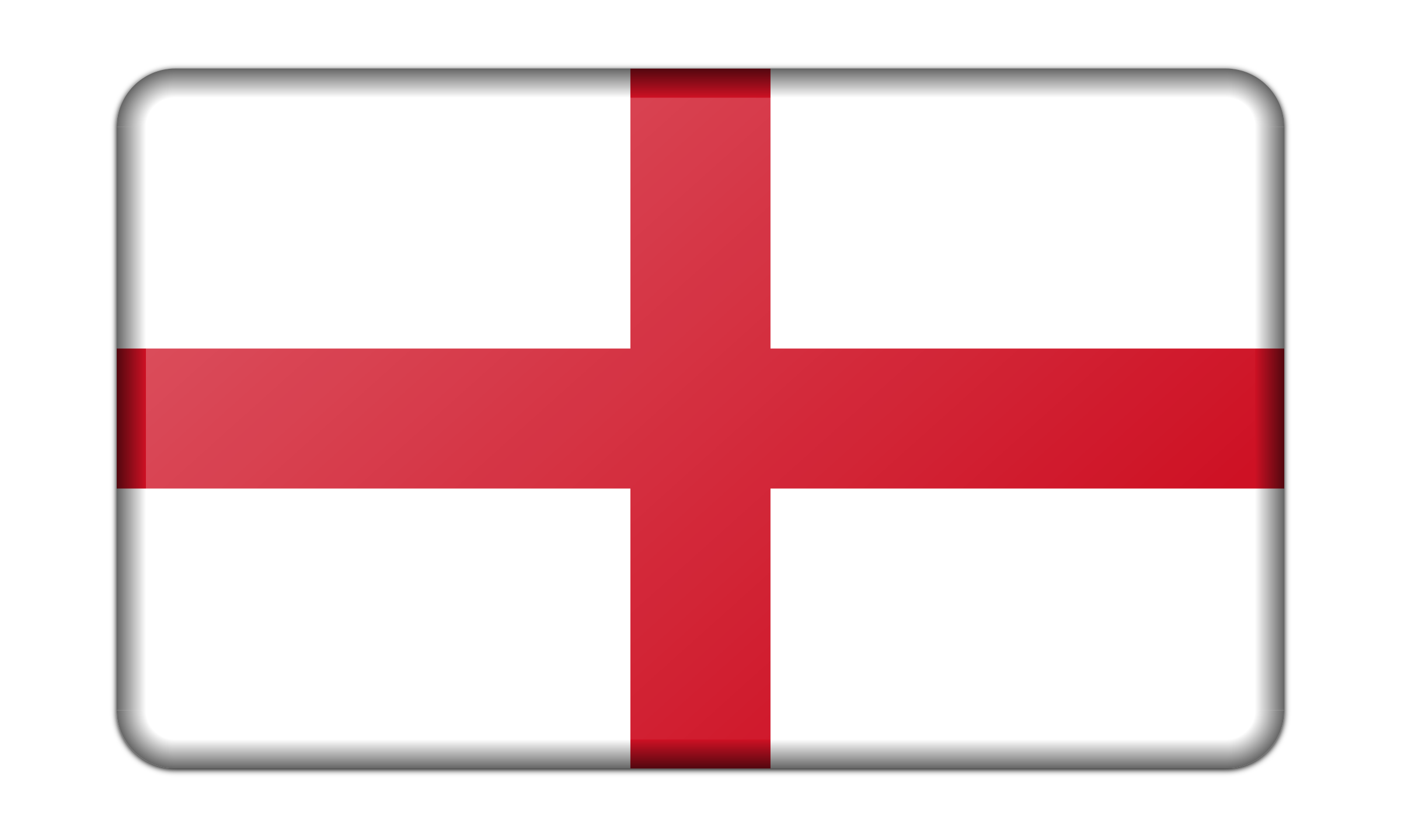 Flag of England (bevelled) by Firkin