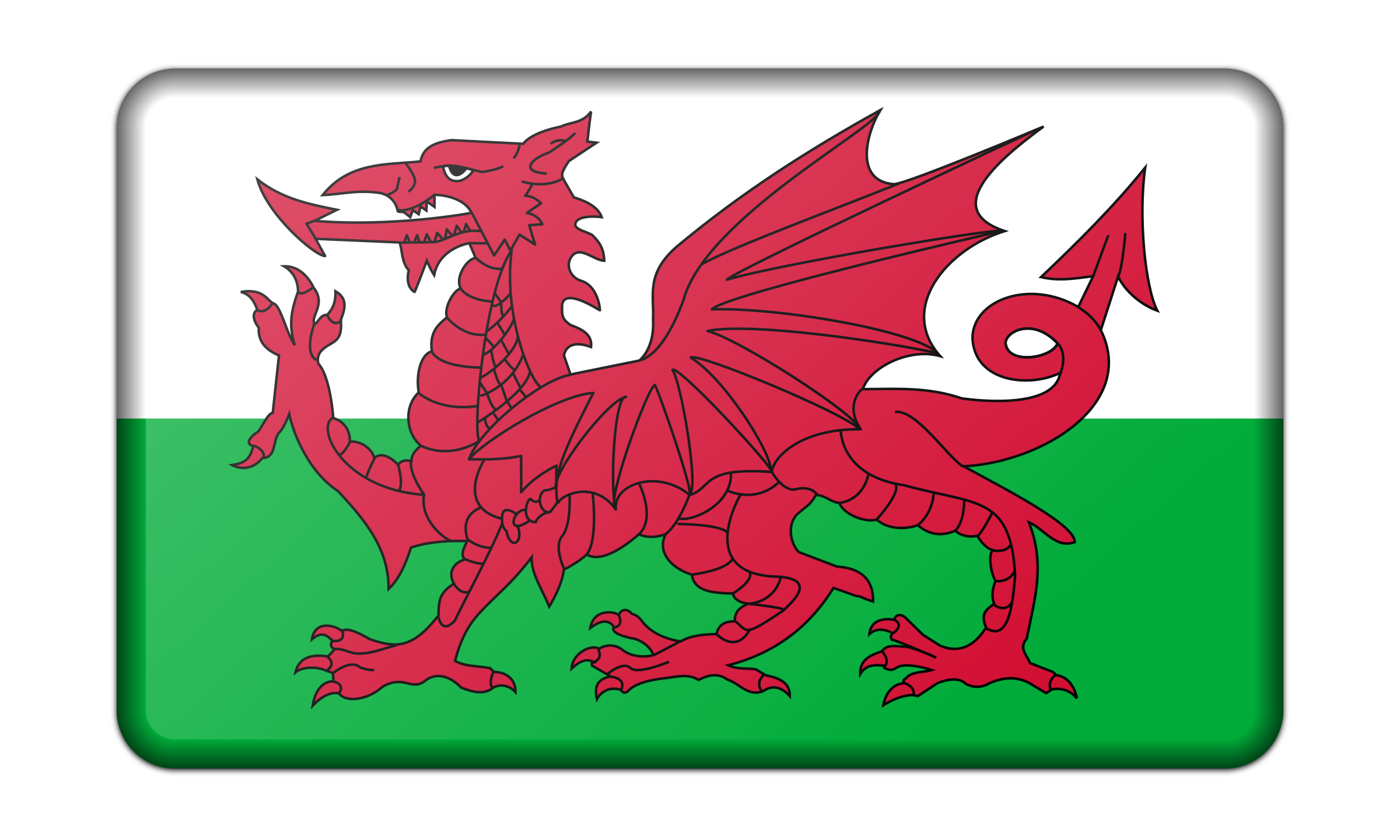 Flag of Wales (bevelled) by Firkin