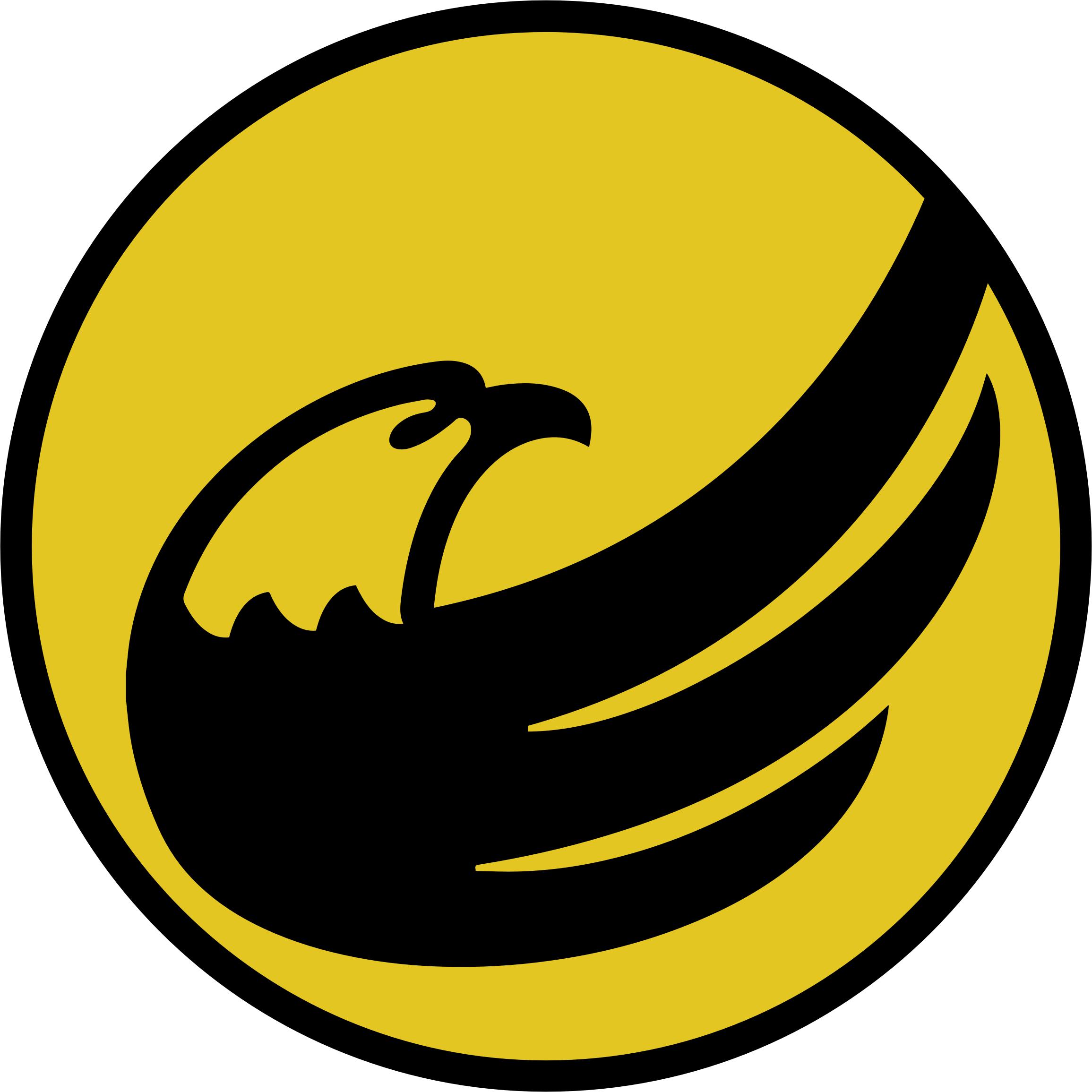 logo-circle: libertarian eagle remix - yellow on black by mrjeremiahross