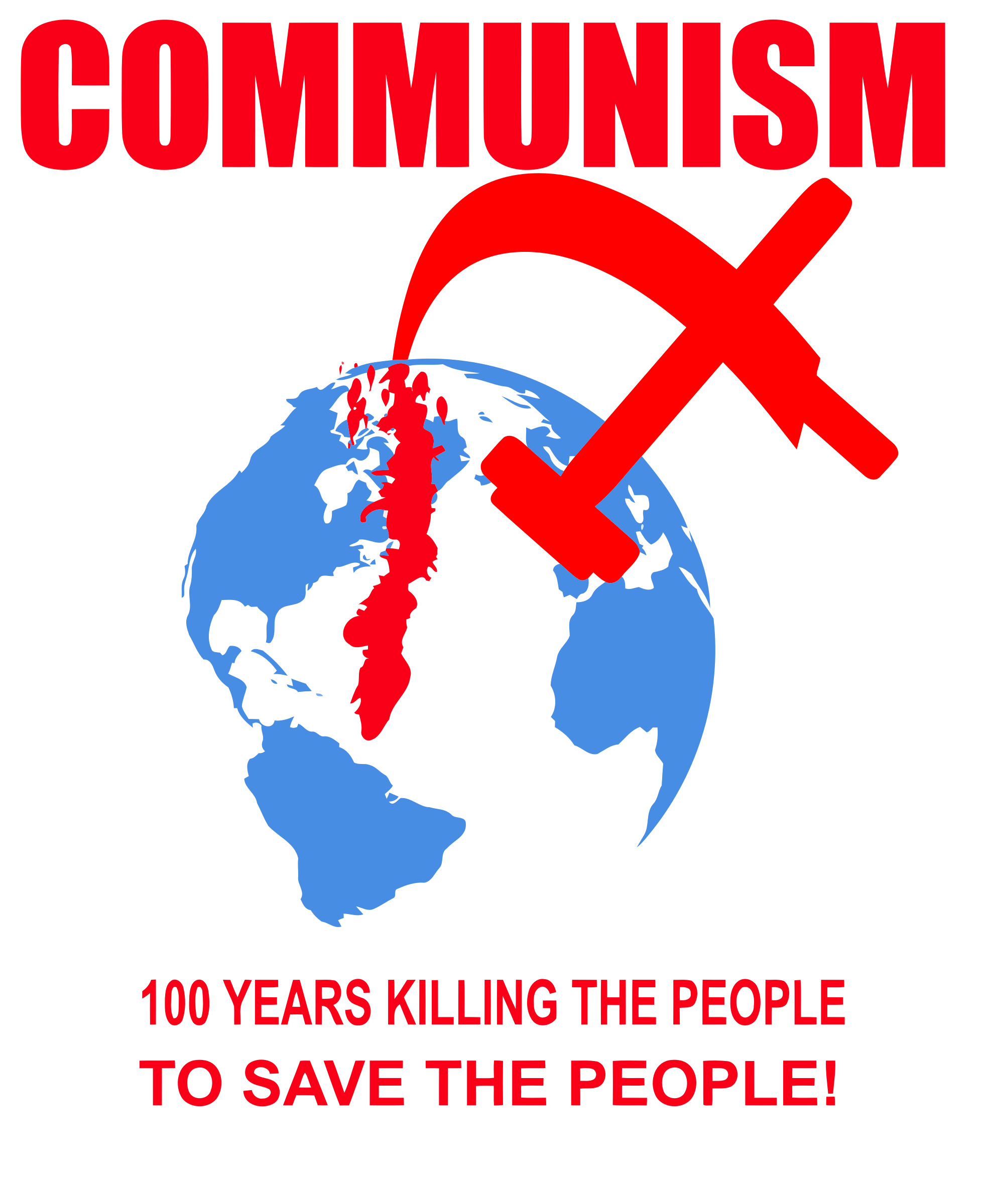 100 years killing the people, to save the people! by MUVUCA